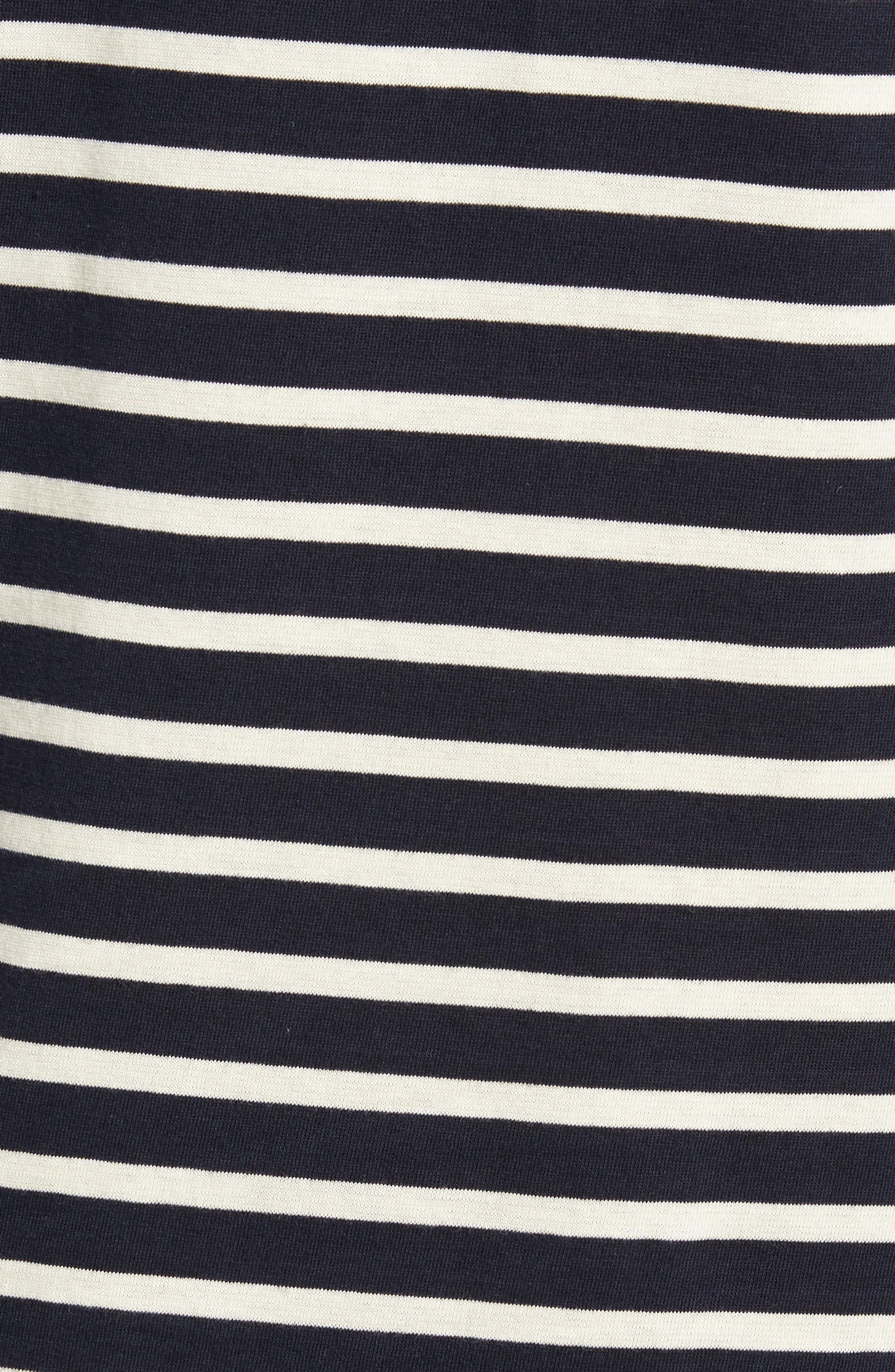 Mix Stripe Long Sleeve T-Shirt,                             Alternate thumbnail 5, color,                             Turtle Dove/ Marine Blue