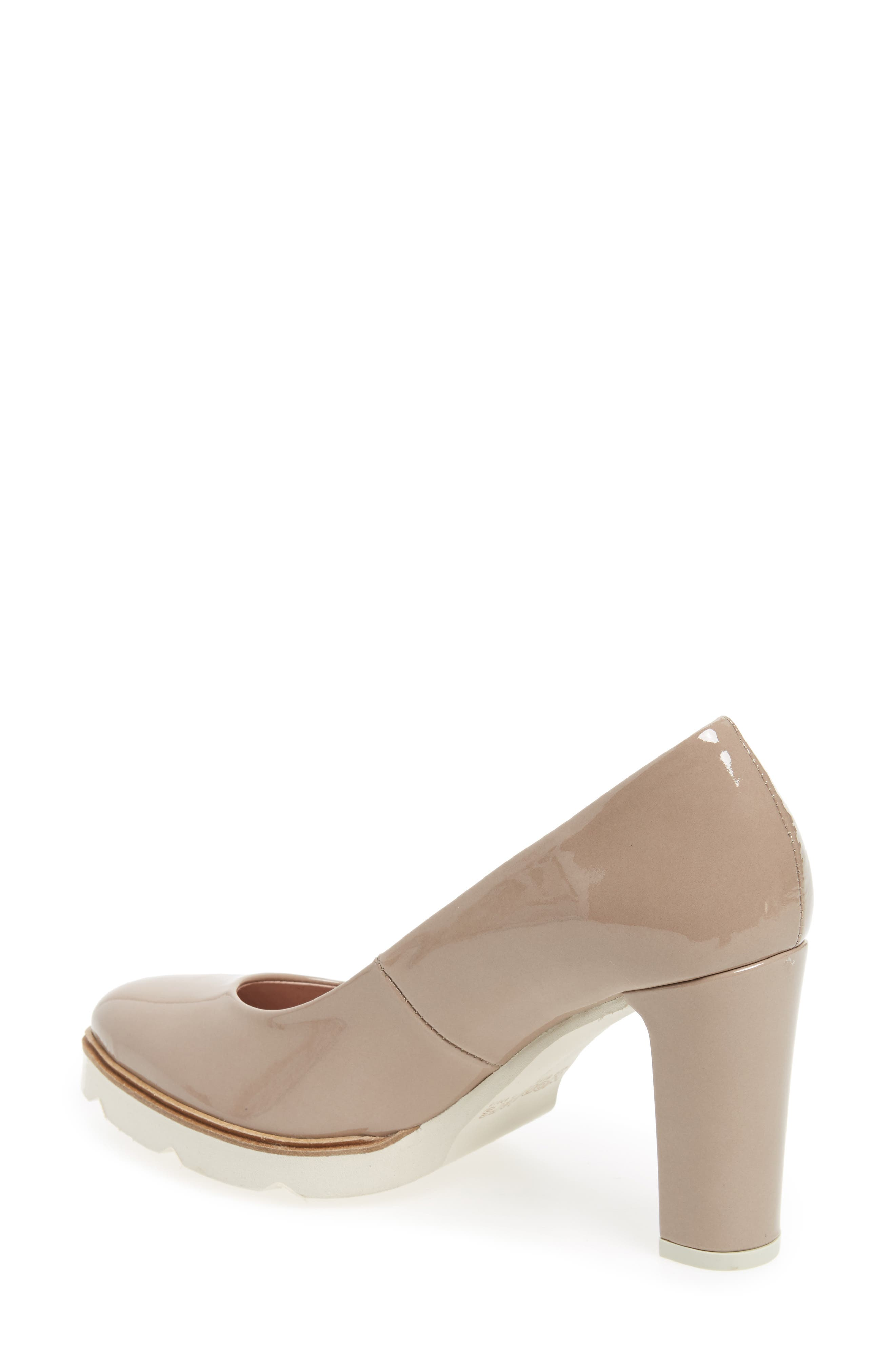 Almond Toe Pump,                             Alternate thumbnail 2, color,                             Taupe Leather