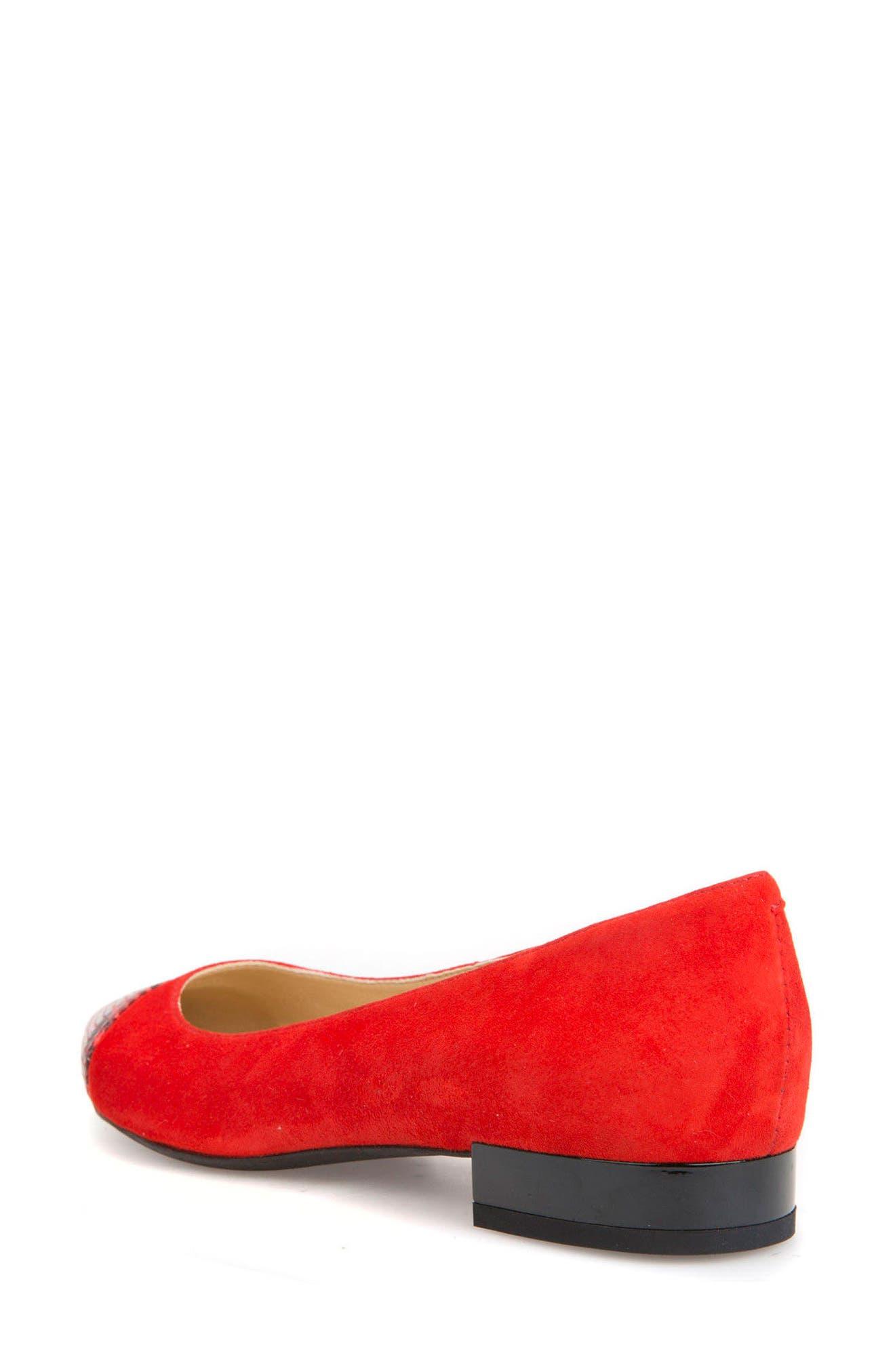 Charyssa Flat,                             Alternate thumbnail 2, color,                             Scarlet Leather