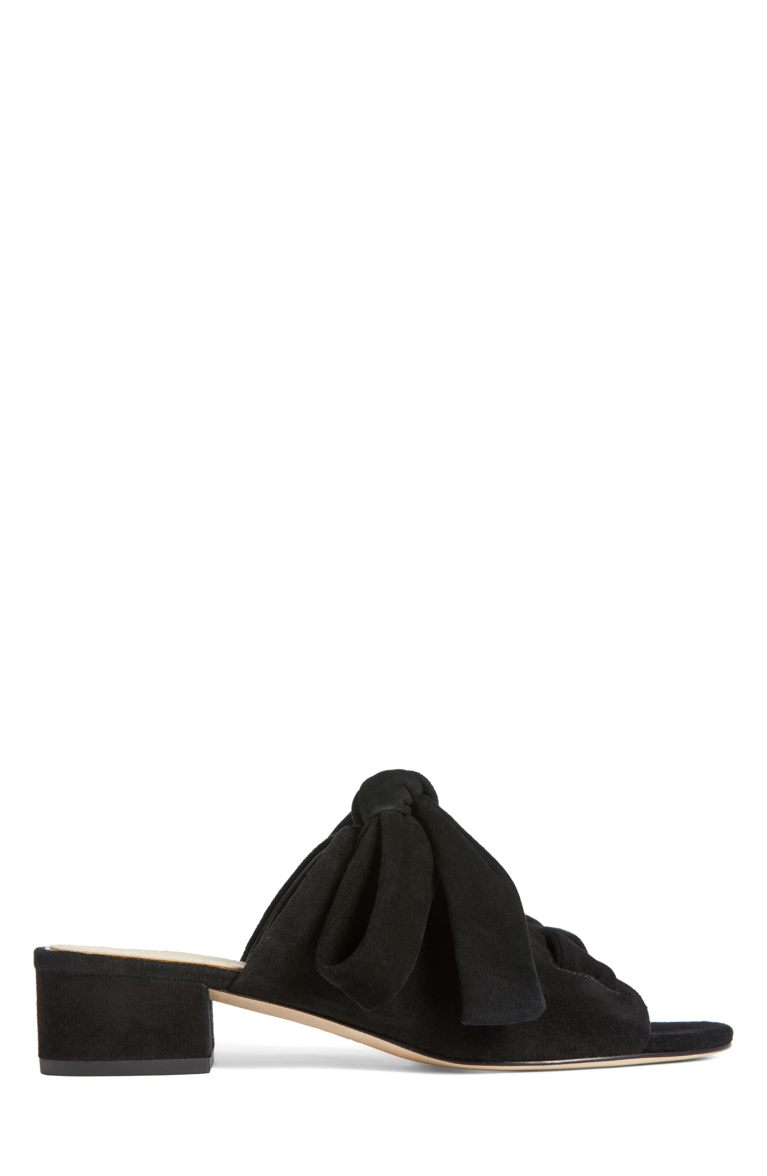 Bermuda Sandal,                             Alternate thumbnail 3, color,                             Black Suede