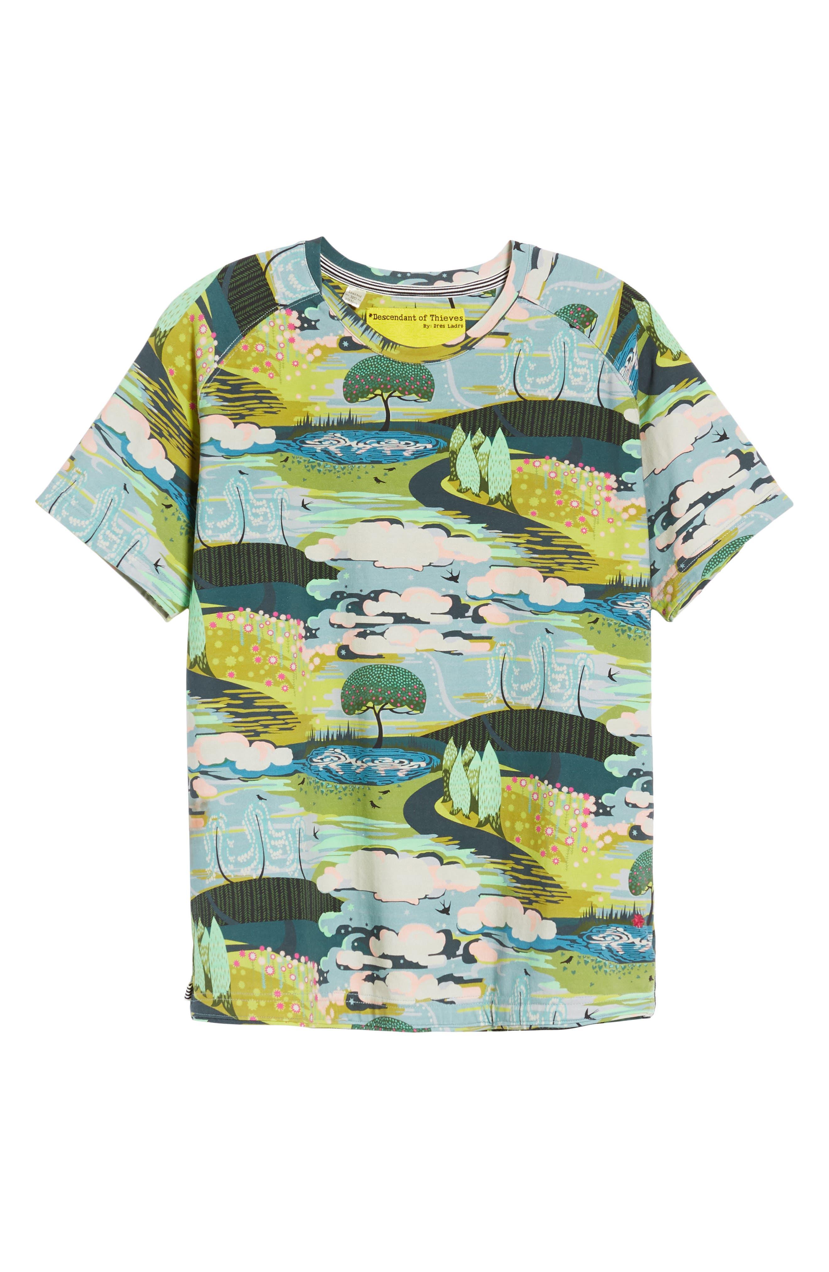 Lost Dream Print T-Shirt,                             Alternate thumbnail 6, color,                             Multi