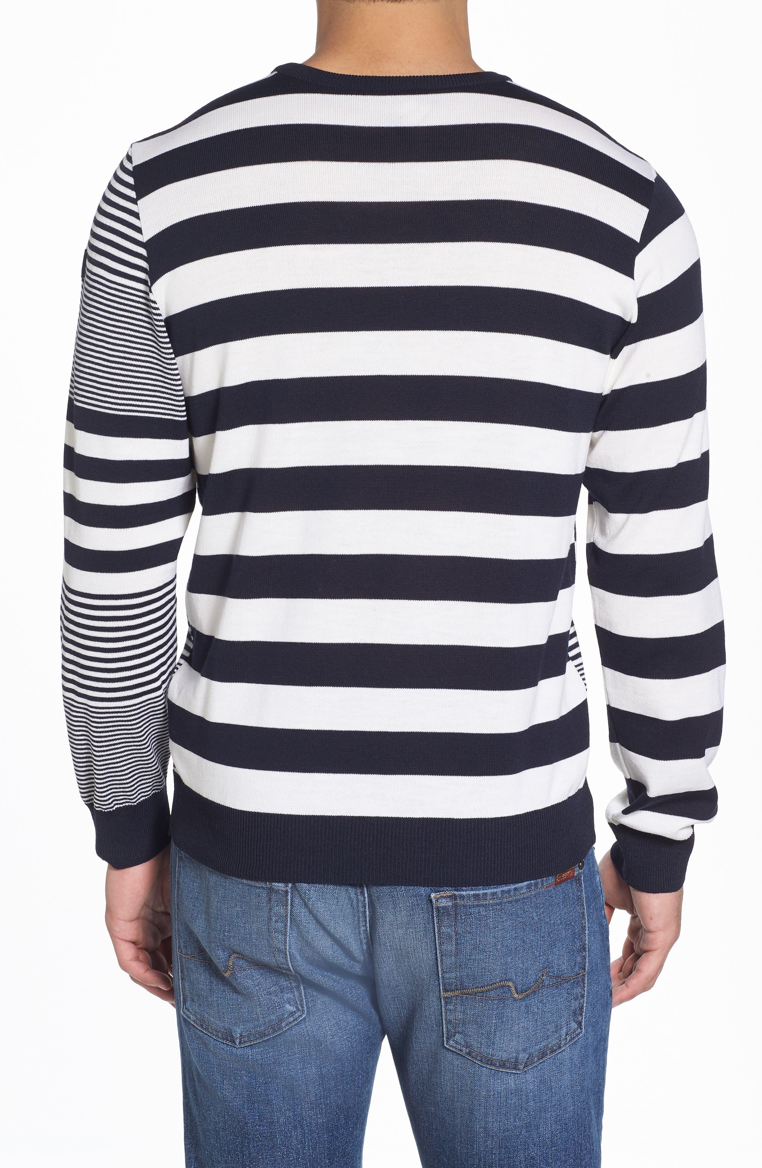 Paul&Shark Stripe Wool Sweater,                             Alternate thumbnail 2, color,                             Navy/ White