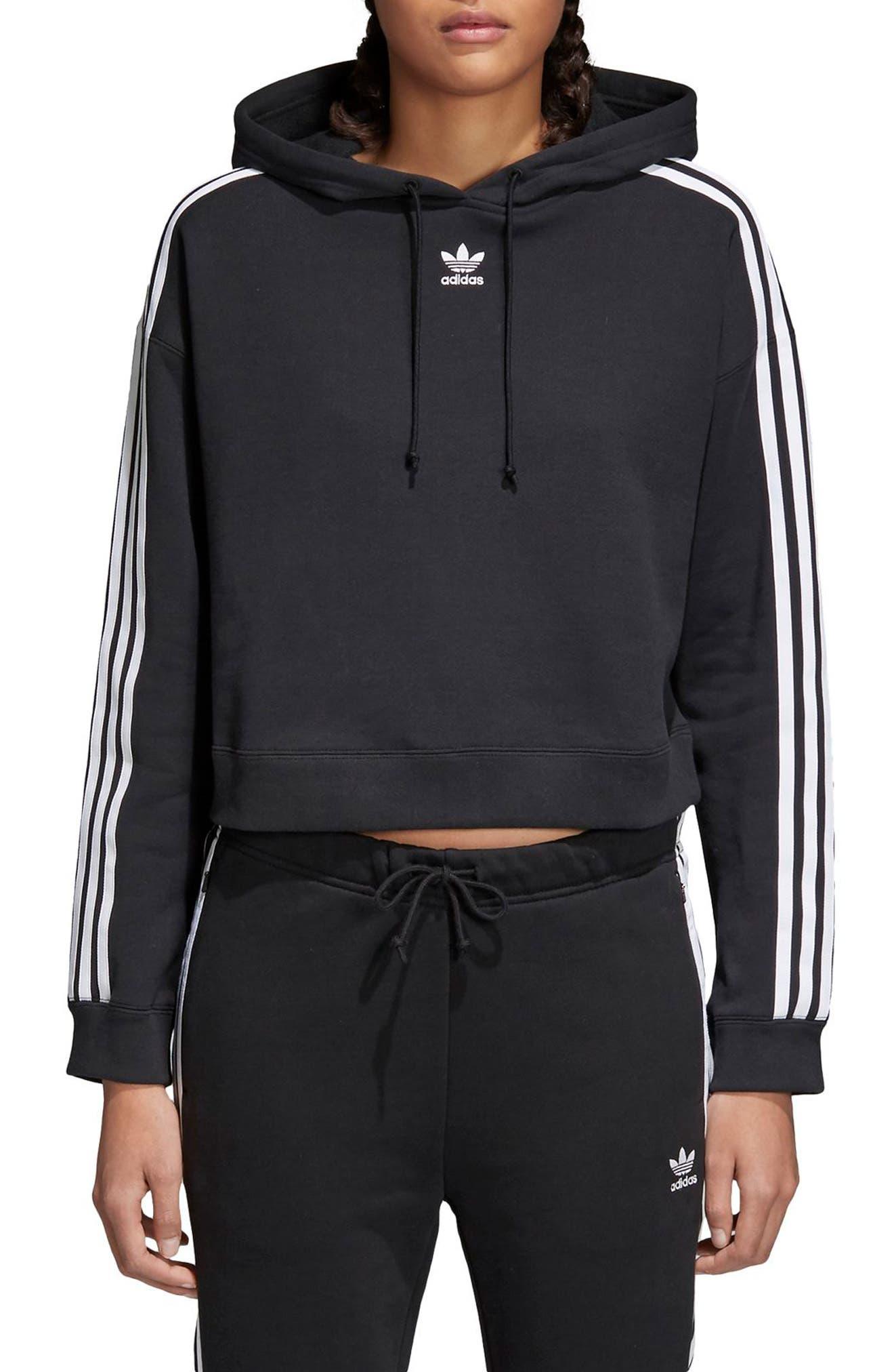 Originals Cropped Hoodie,                         Main,                         color, Black