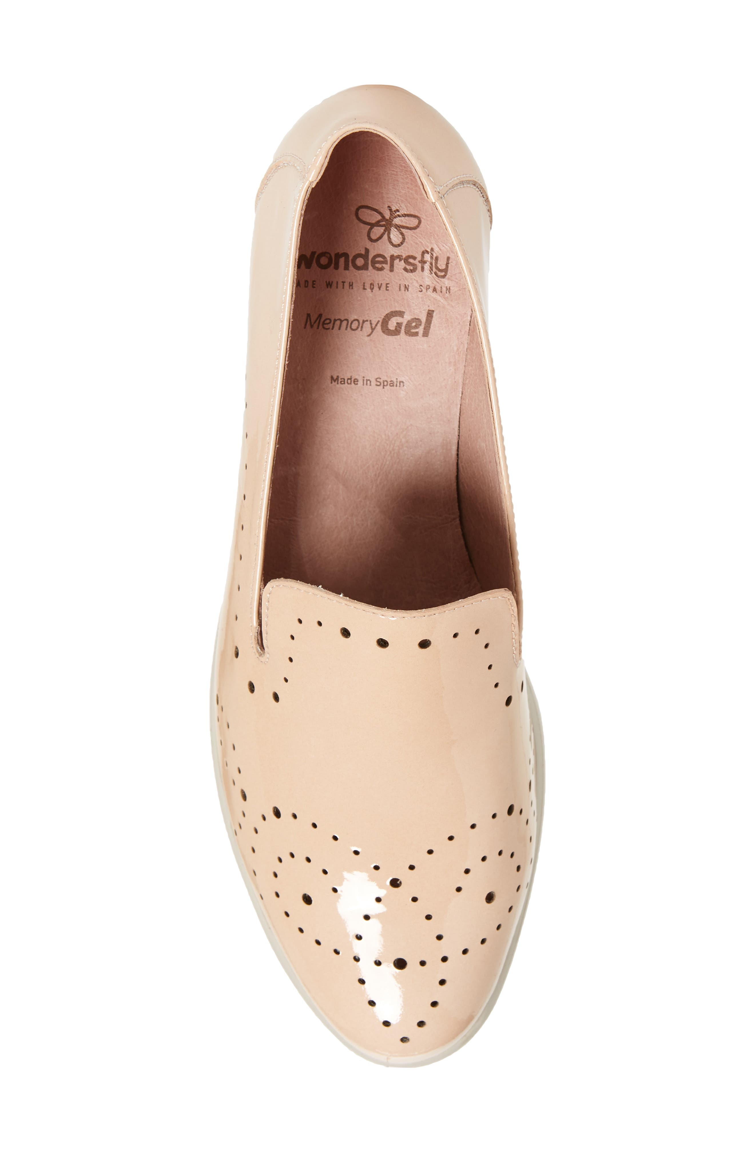 C-33114 Loafer Wedge,                             Alternate thumbnail 5, color,                             Palo Beige Leather