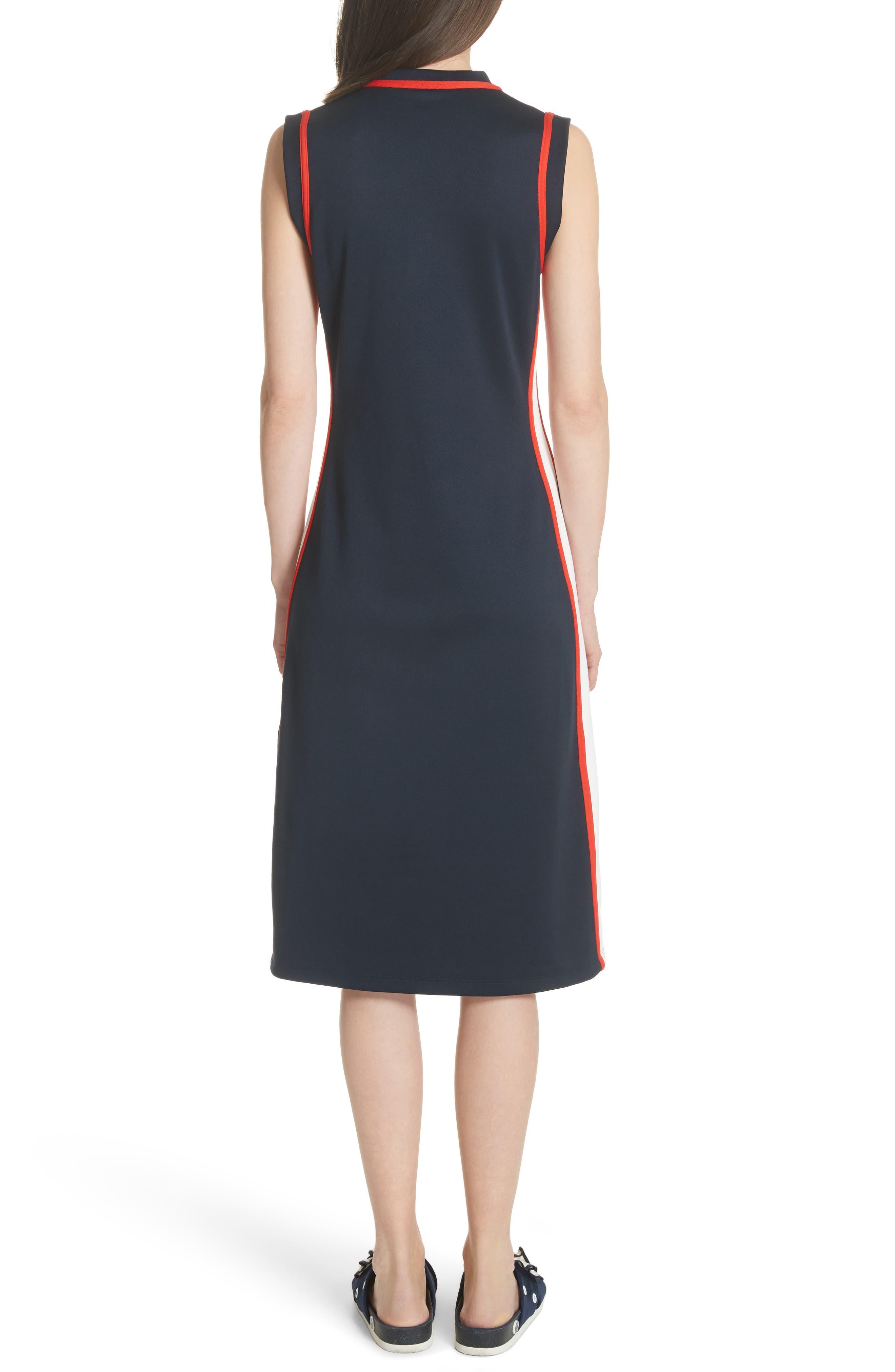 Sleeveless Track Dress,                             Alternate thumbnail 3, color,                             Tory Navy