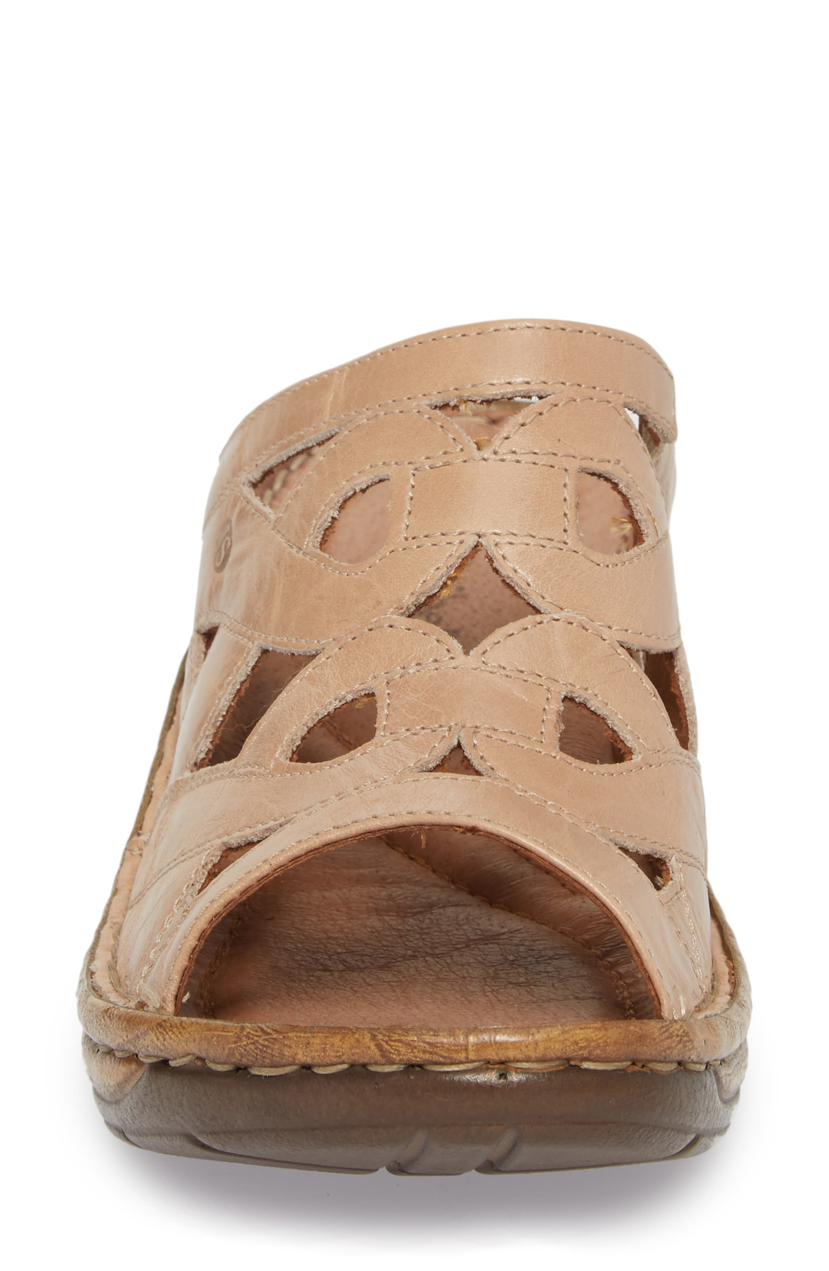 Catalonia 44 Slide Sandal,                             Alternate thumbnail 4, color,                             Beige Leather