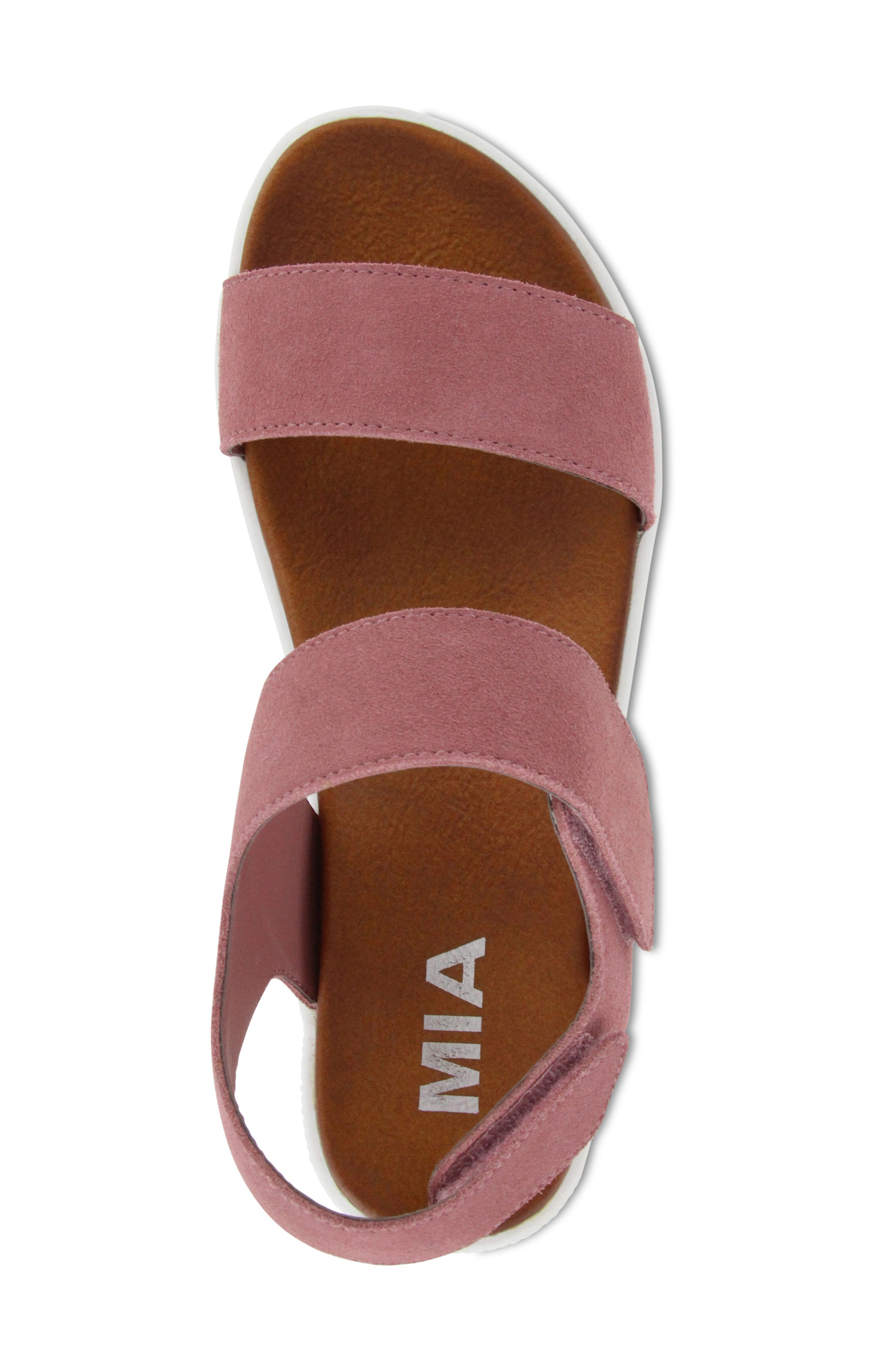 Troy Slingback Platform Sandal,                             Alternate thumbnail 5, color,                             Mauve Suede