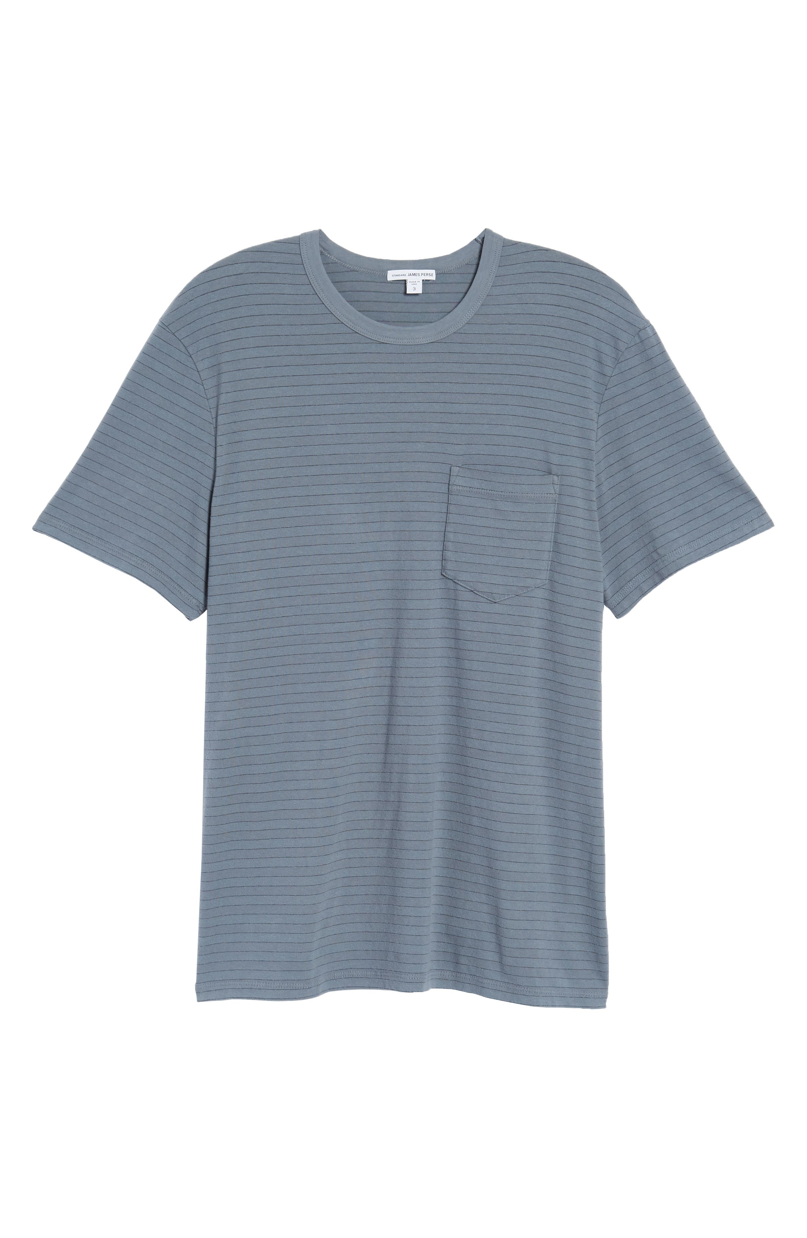 Alternate Image 6  - James Perse Shadow Stripe Pocket T-Shirt