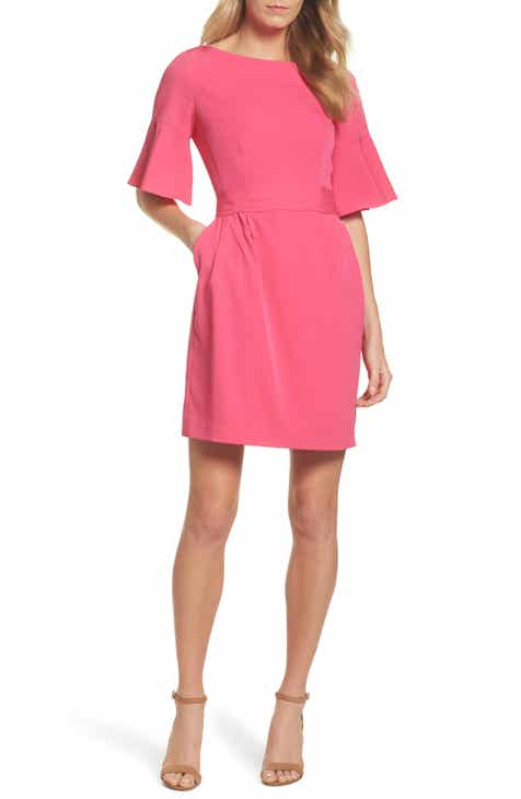 Eliza J Bell Sleeve Sheath Dress By ELIZA J by ELIZA J Amazing
