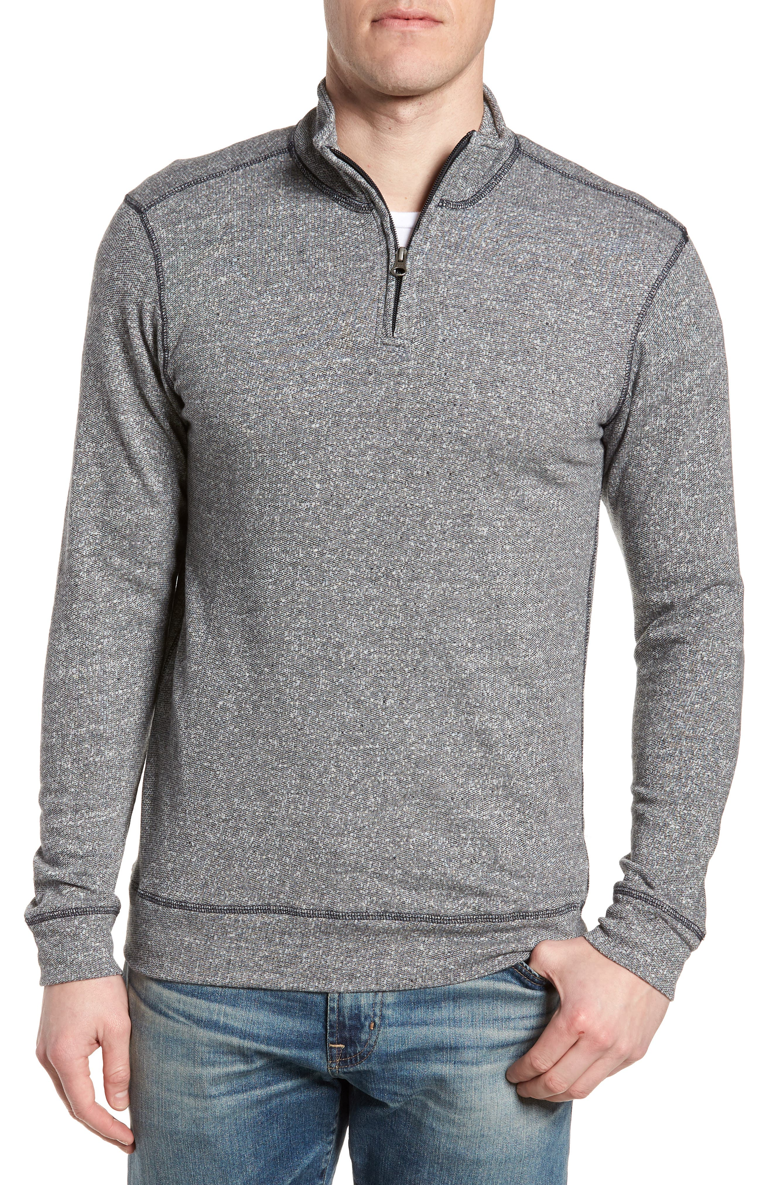 Regular Fit French Terry Pullover,                             Main thumbnail 1, color,                             Charcoal
