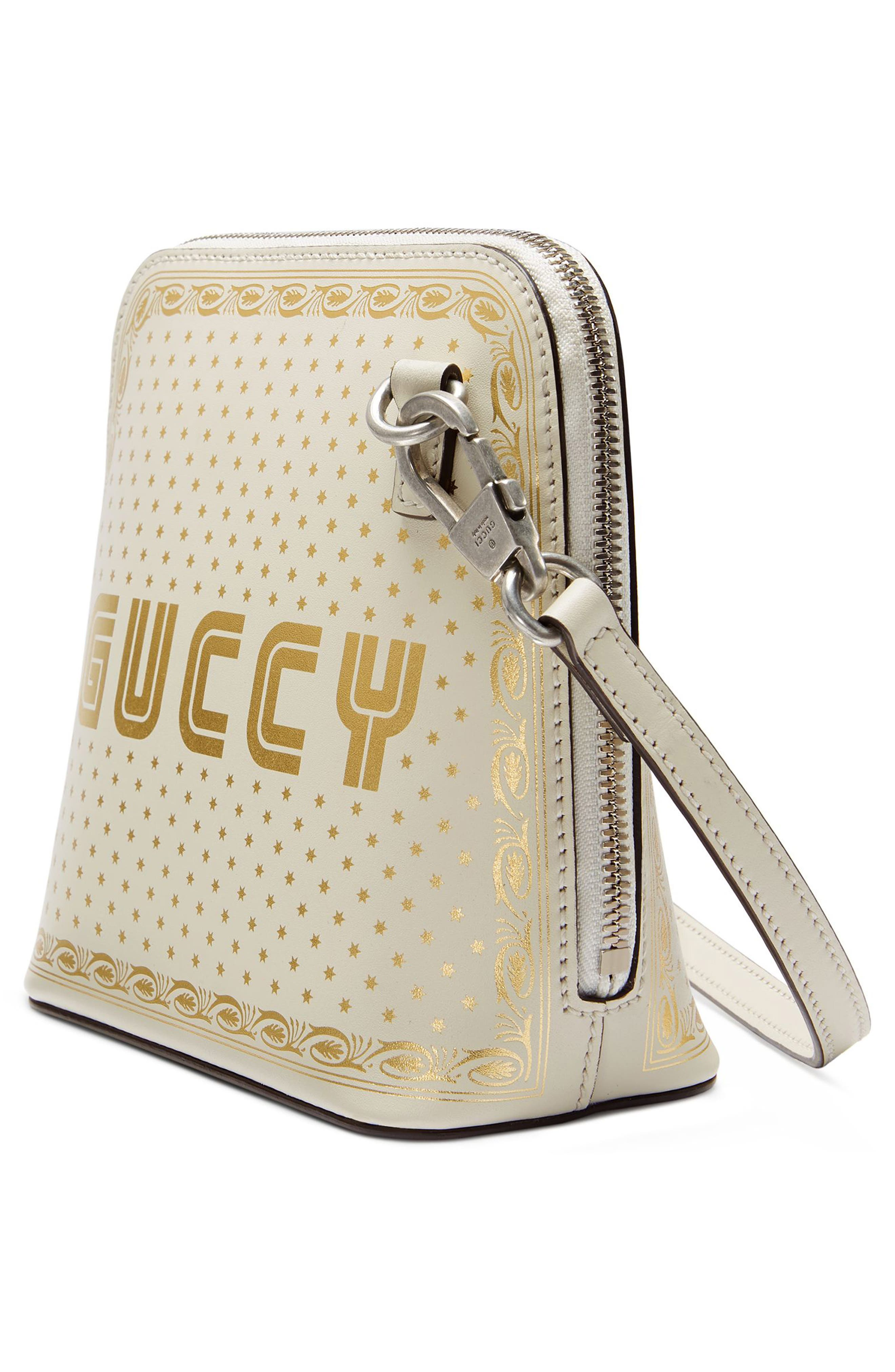 Alternate Image 3  - Gucci Guccy Logo Moon & Stars Leather Crossbody Bag