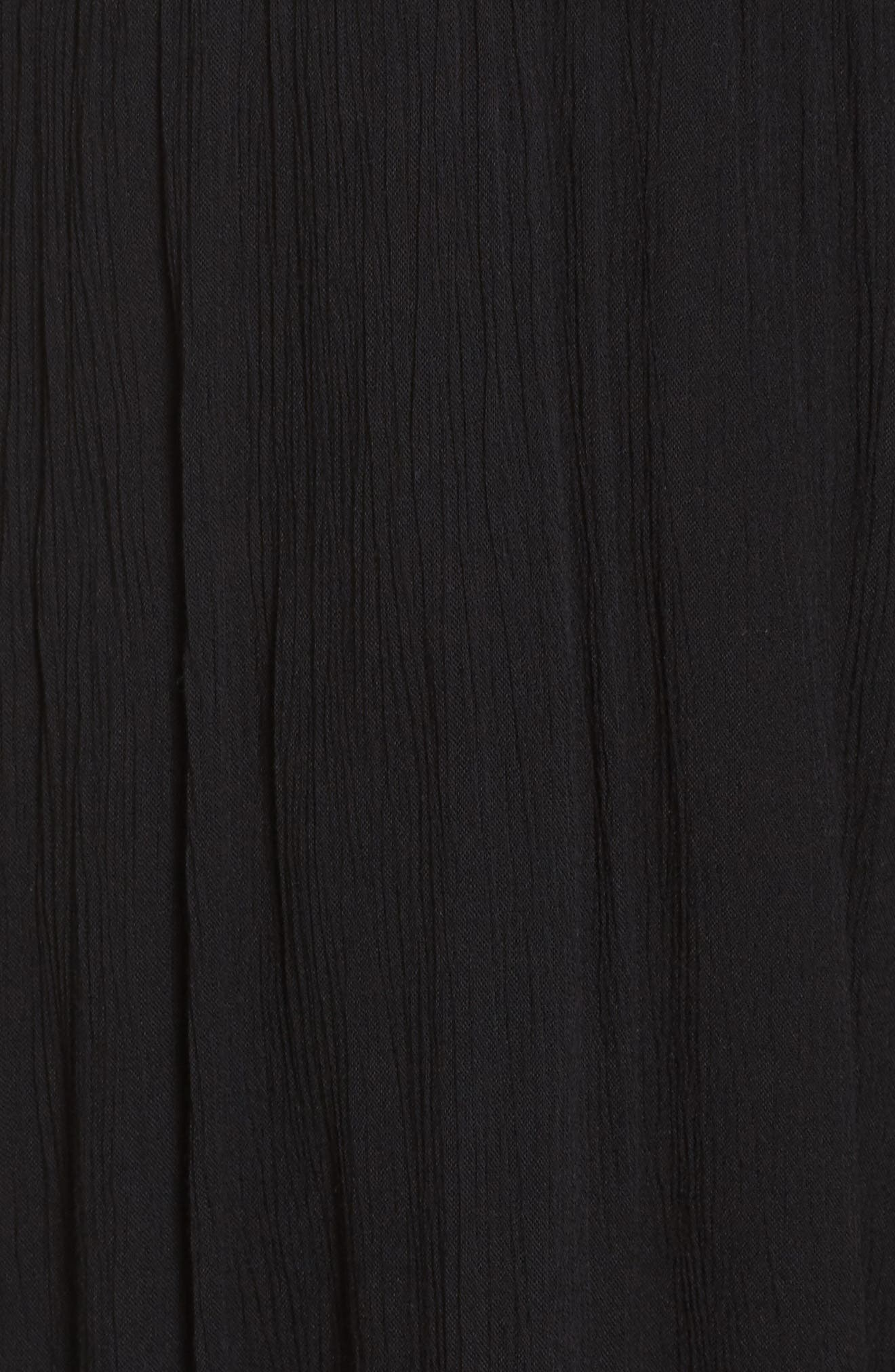 Smocked Off-the-Shoulder Cover-Up Maxi Dress,                             Alternate thumbnail 5, color,                             Black