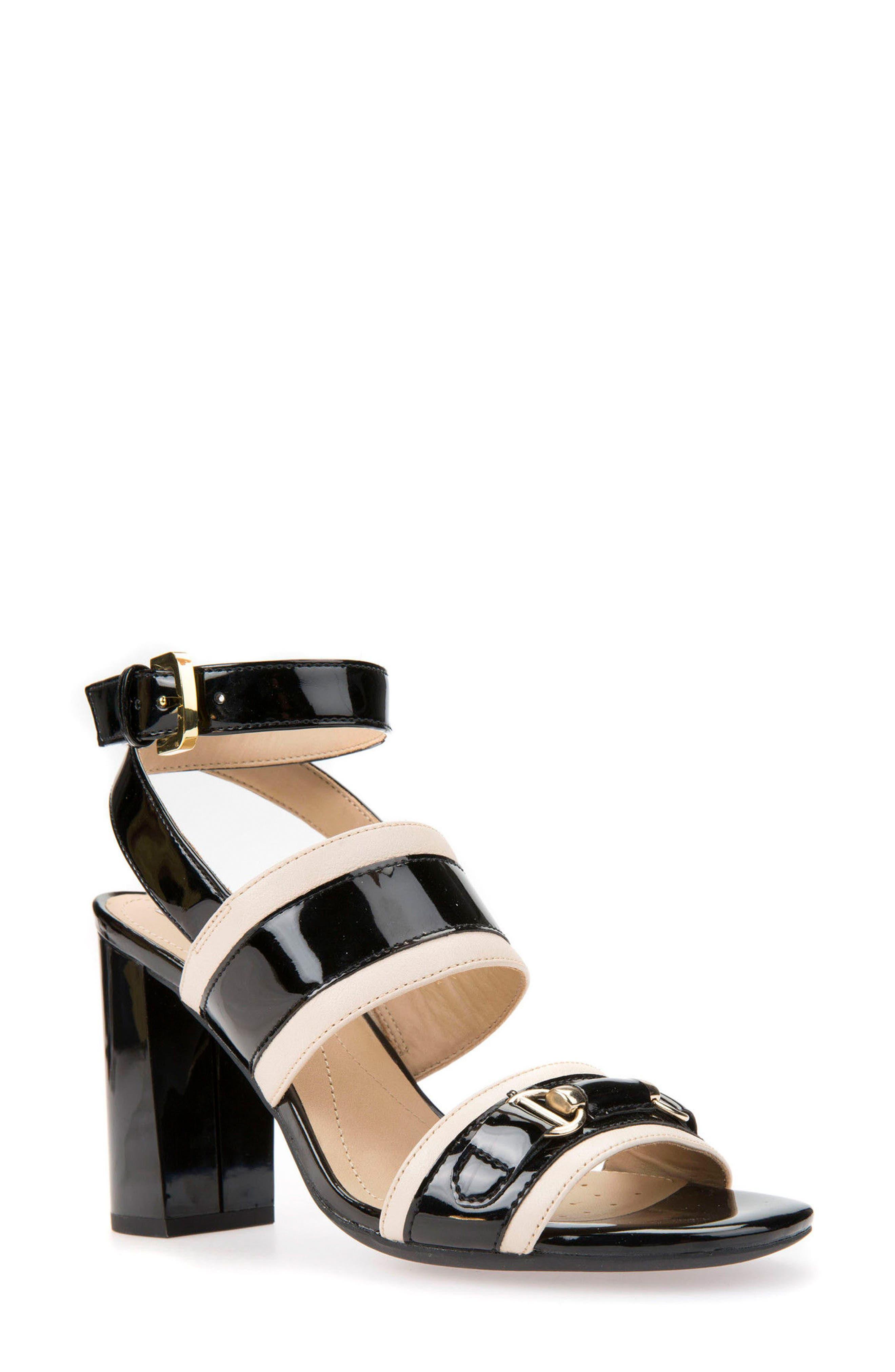 Audalie 6 Sandal,                             Main thumbnail 1, color,                             Black Leather