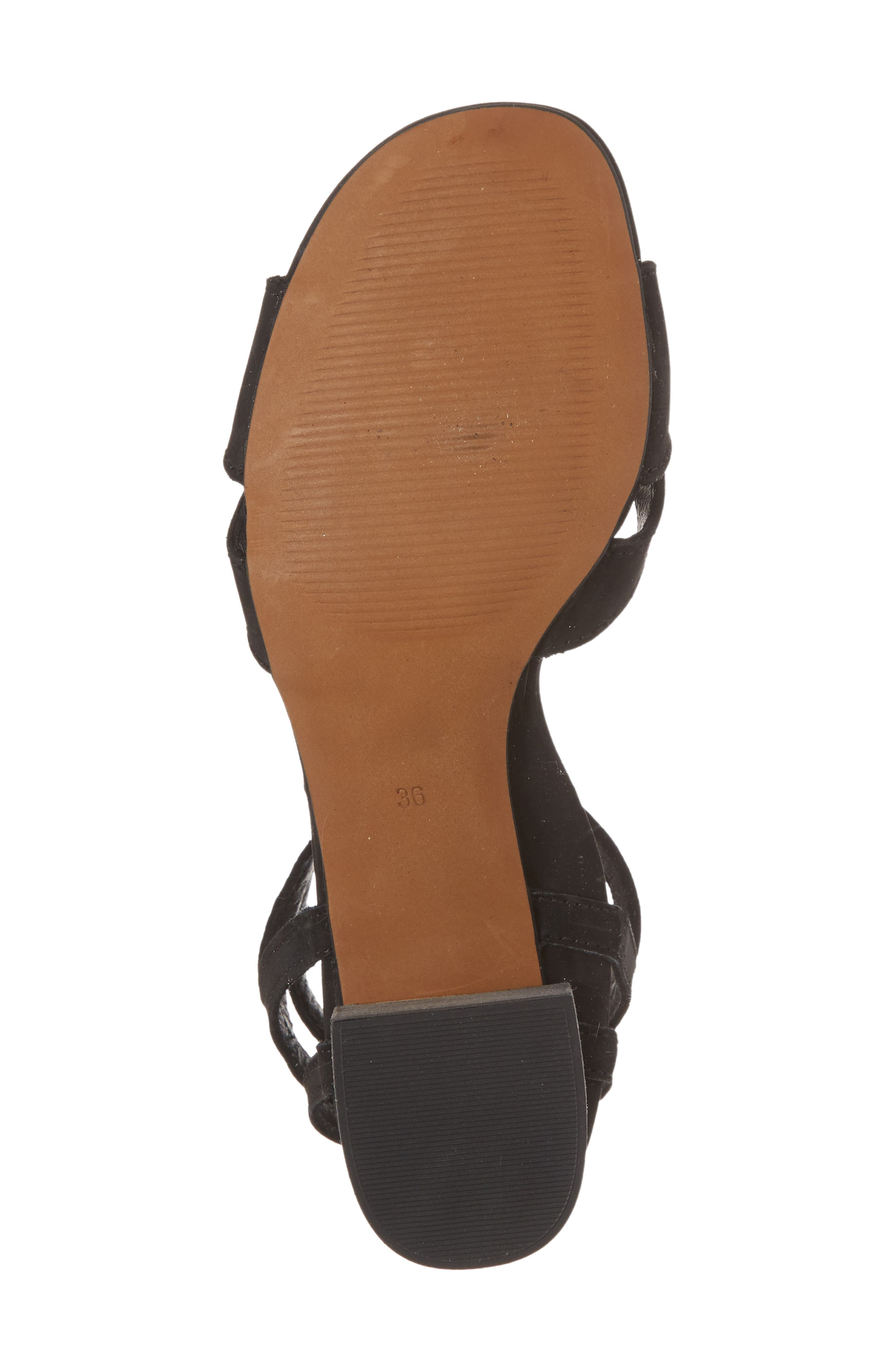 Zorita Sandal,                             Alternate thumbnail 6, color,                             Black Nubuck Leather