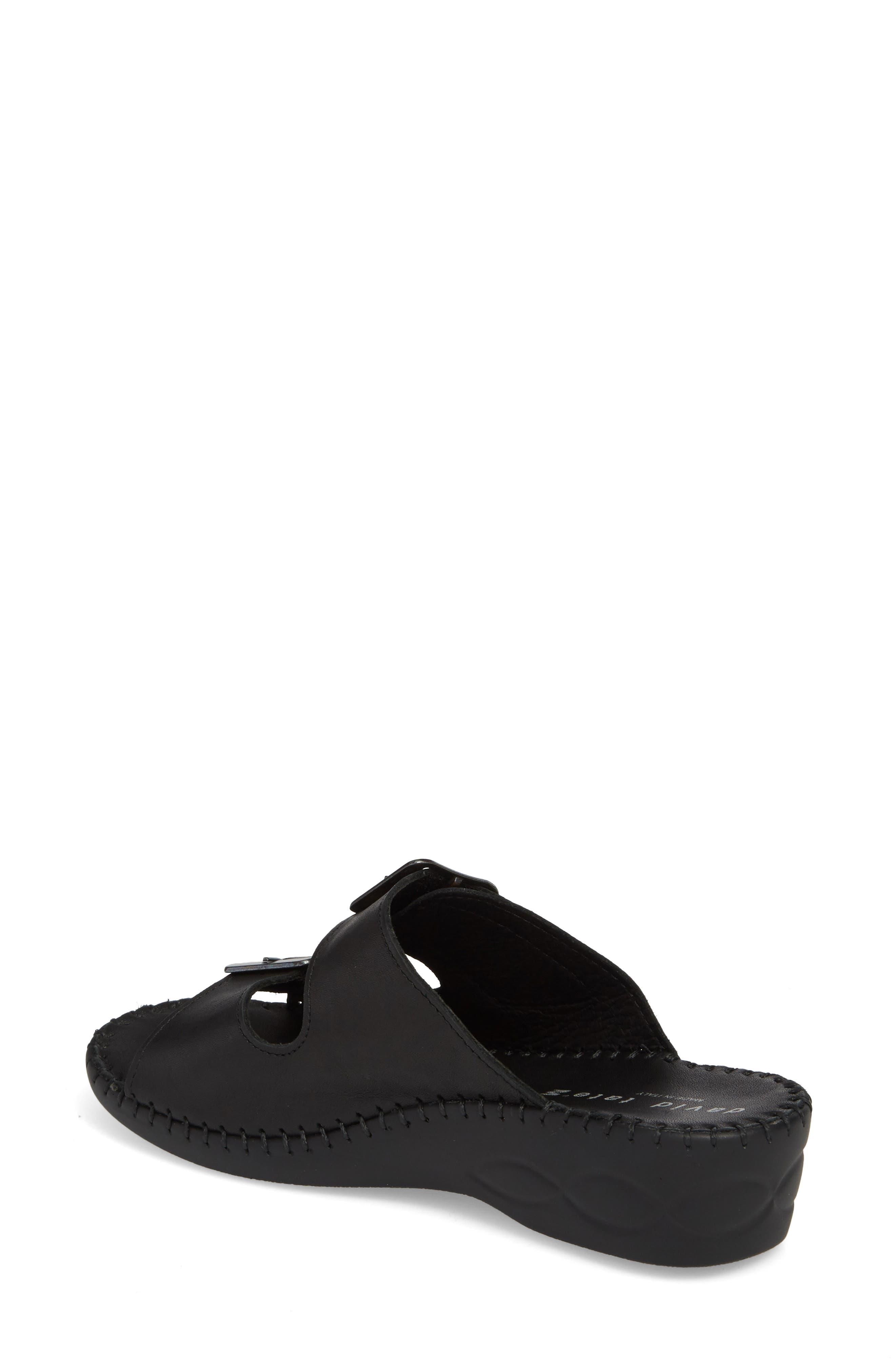 Sol Sandal,                             Alternate thumbnail 2, color,                             Black Leather