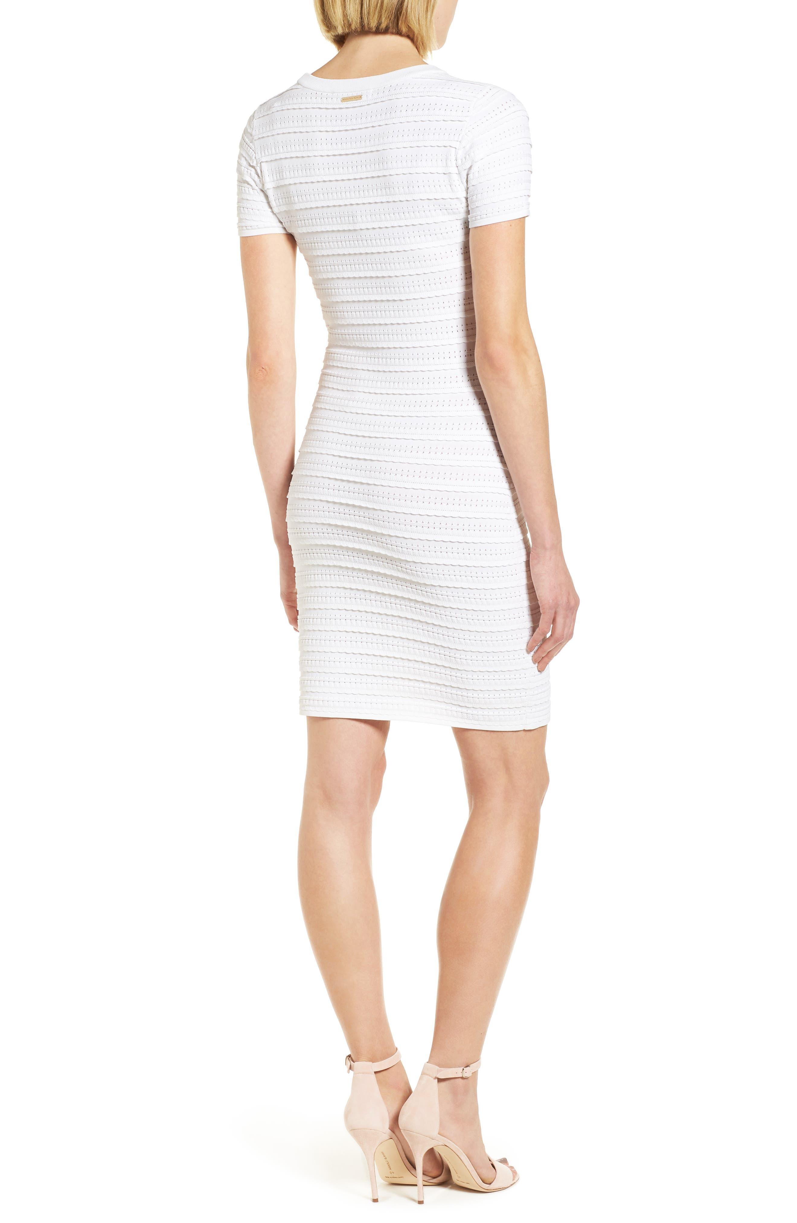 Tiered Sheath Dress,                             Alternate thumbnail 2, color,                             White