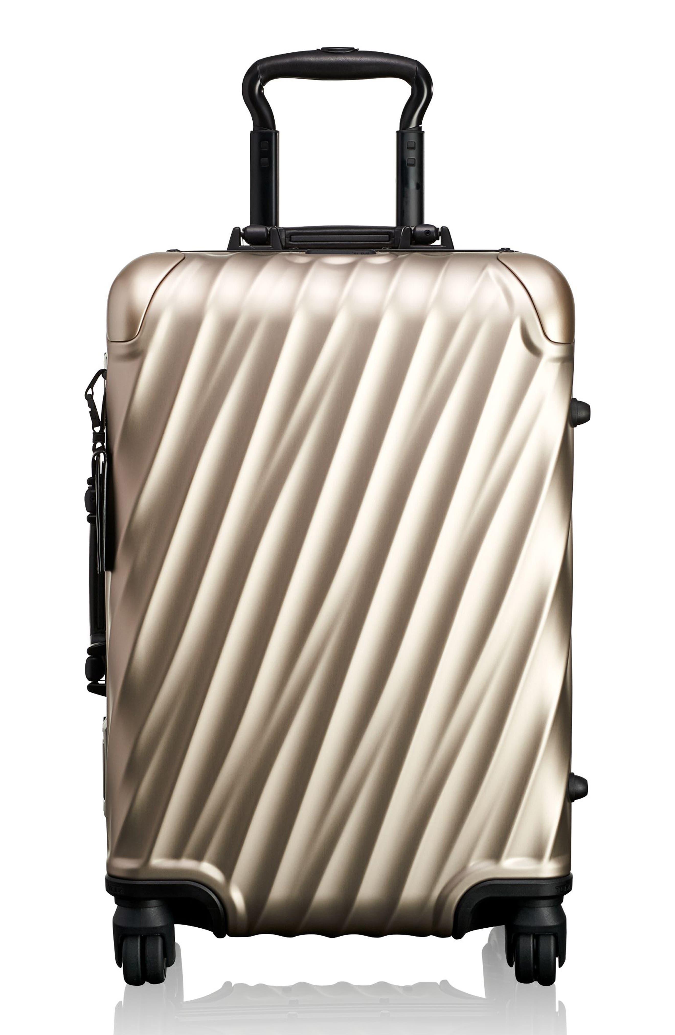 Tumi 19 Degree 22 Inch Aluminum Spinner Carry On White In Ivory Hanger 2