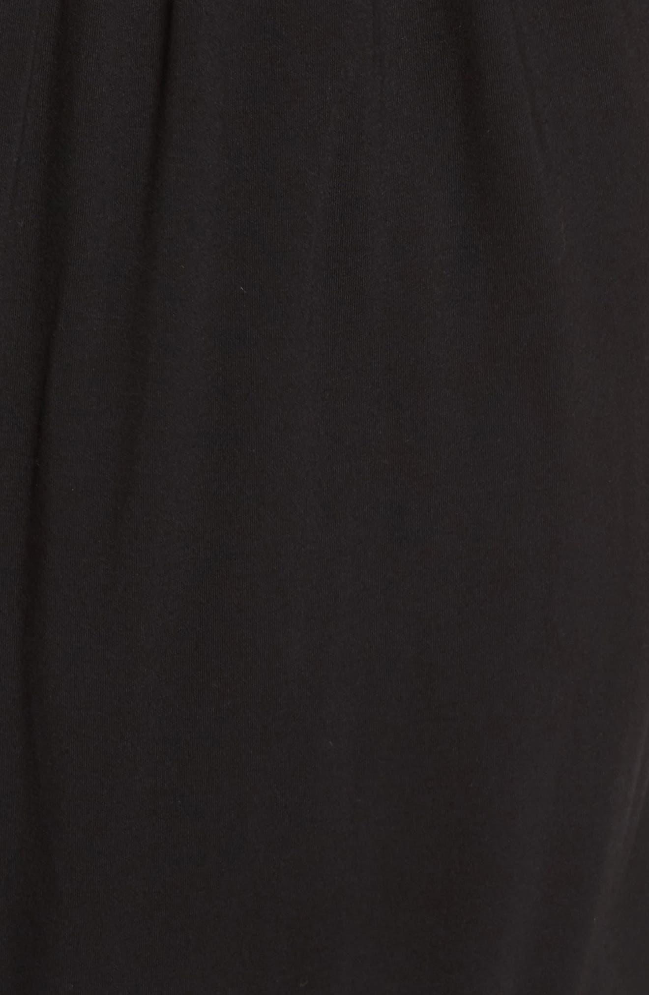 Barrett Off the Shoulder Dress,                             Alternate thumbnail 5, color,                             Black