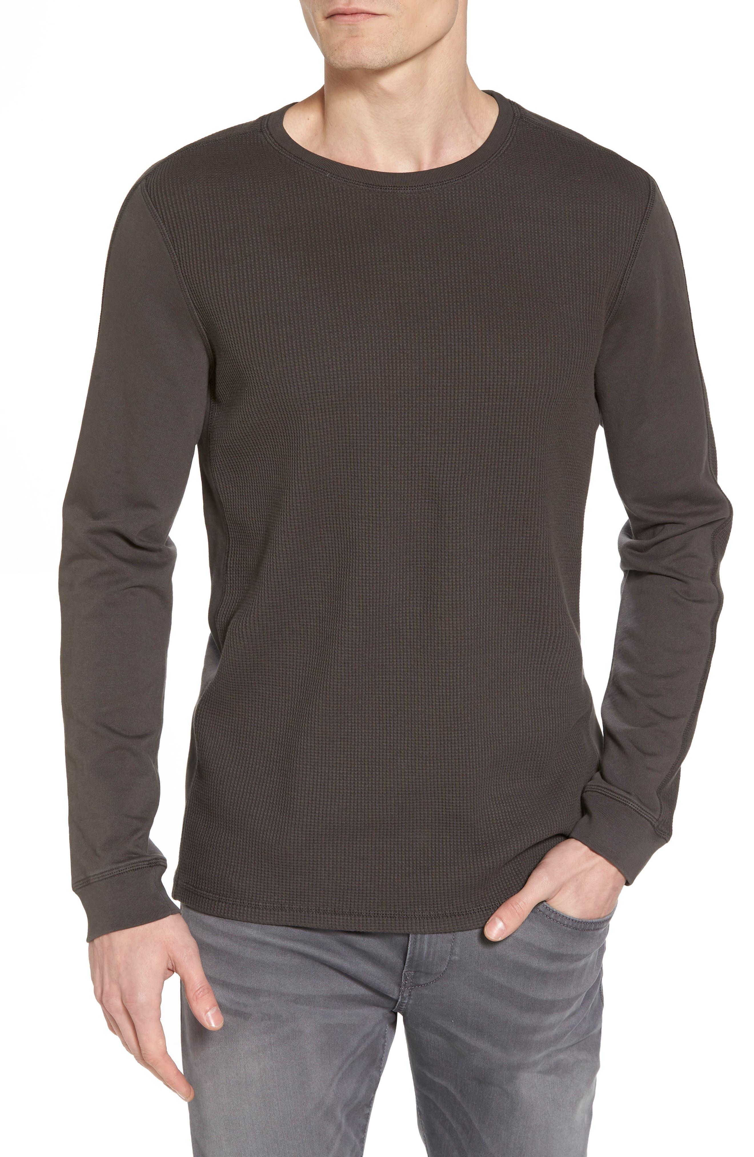 Trevor Slim Fit Crewneck Shirt,                             Main thumbnail 1, color,                             Smoke Grey