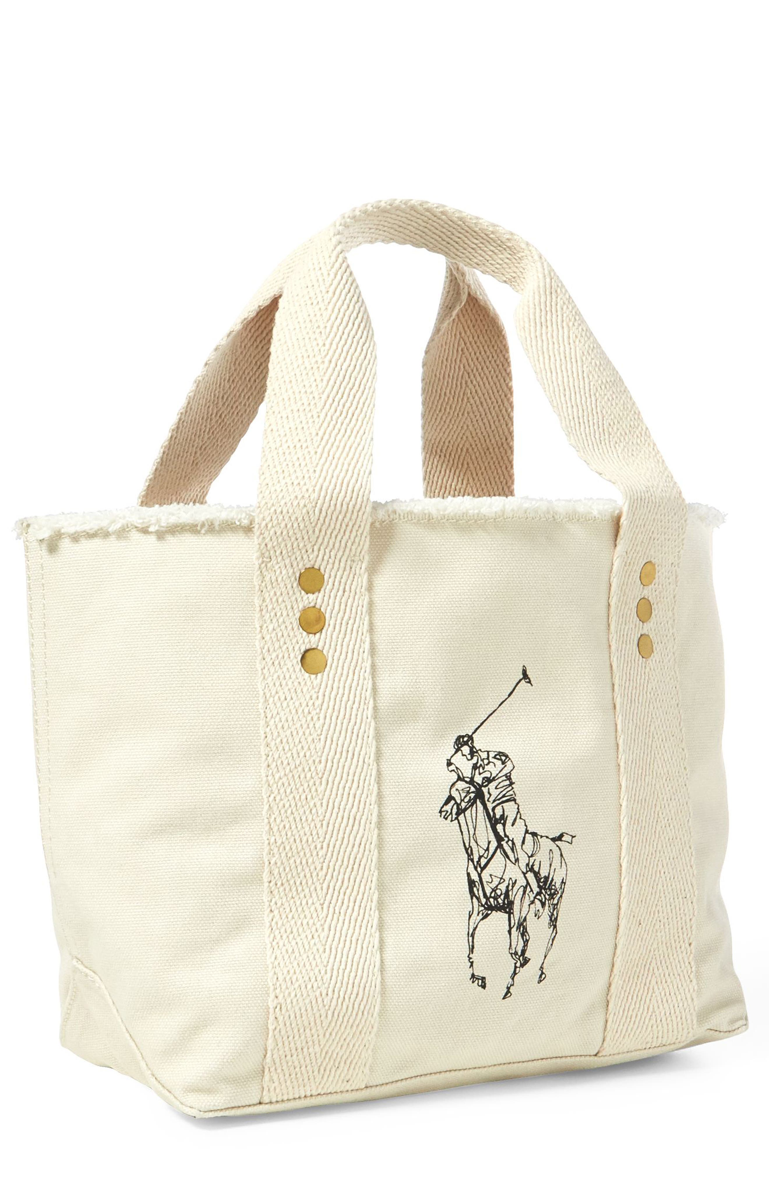 Polo Ralph Lauren Small Pony Canvas Tote