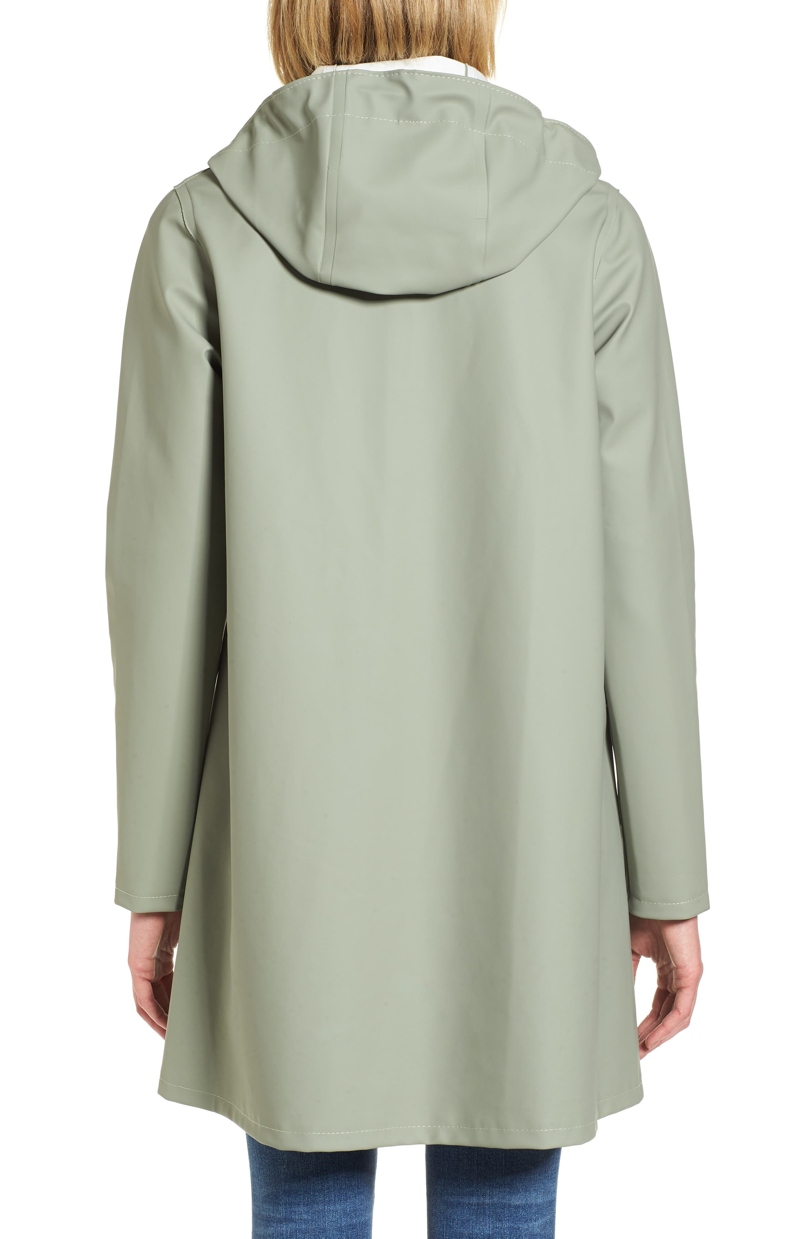 Mosebacke Waterproof A-Line Hooded Raincoat,                             Alternate thumbnail 2, color,                             Khaki Green
