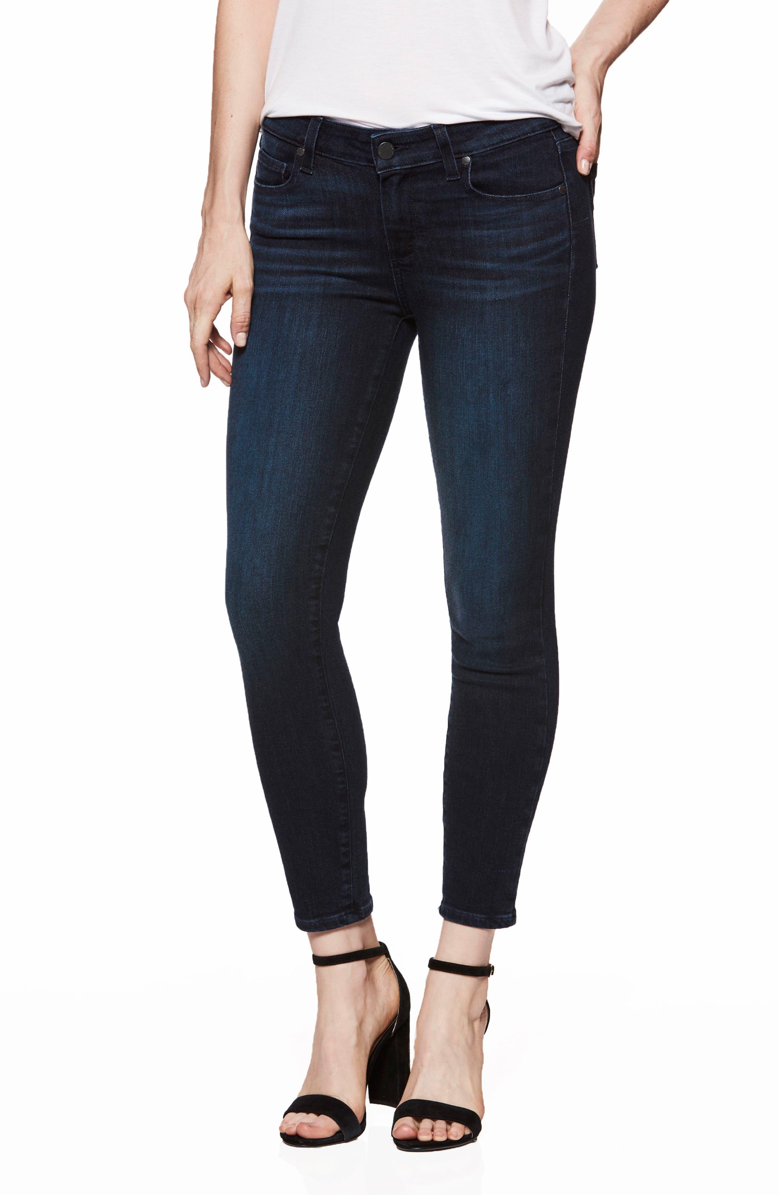 Transcend Vintage - Verdugo Crop Ultra Skinny Jeans,                             Main thumbnail 1, color,                             Luella