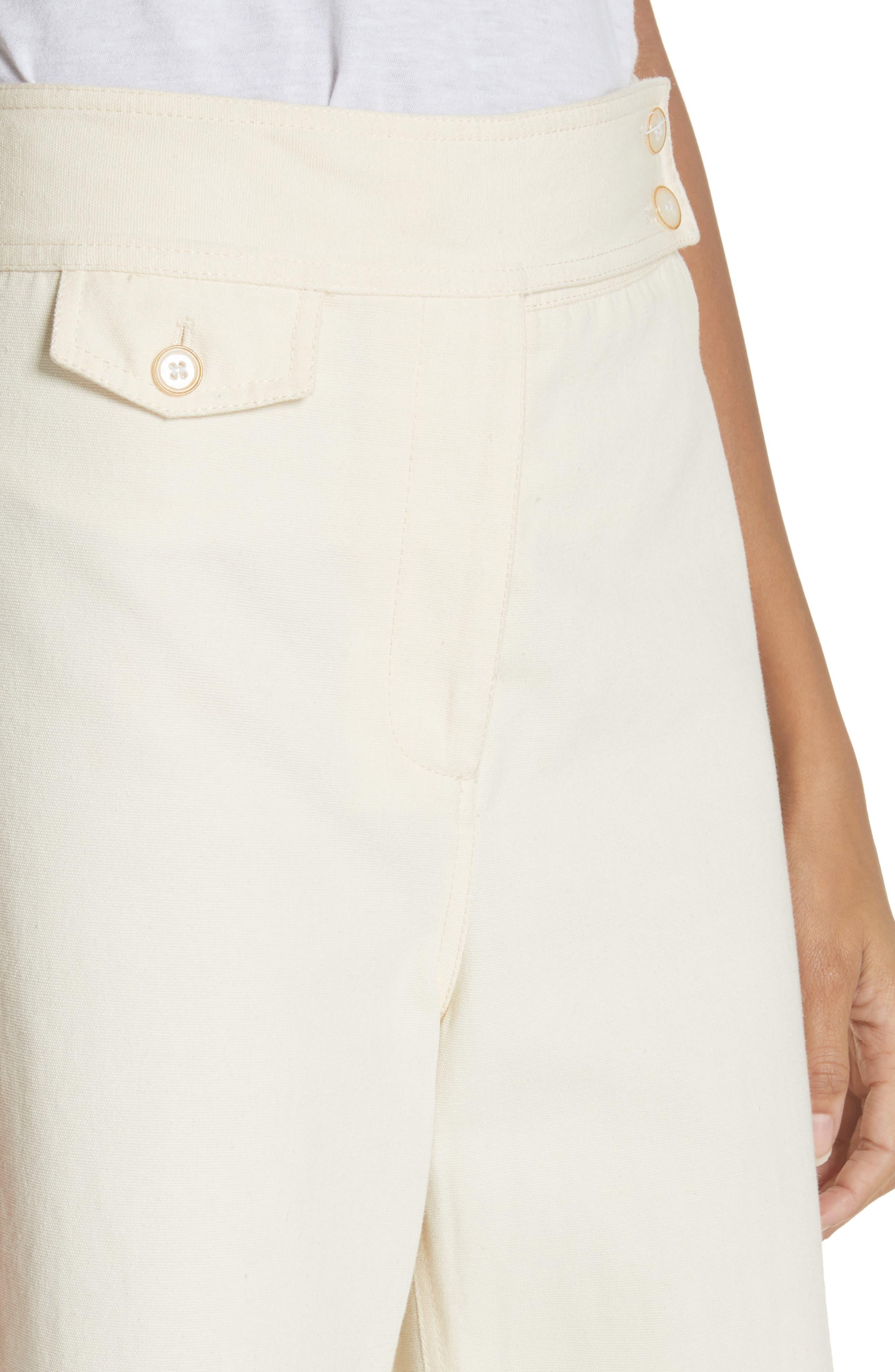 Caymen Cotton Gaucho Pants,                             Alternate thumbnail 4, color,                             Natural
