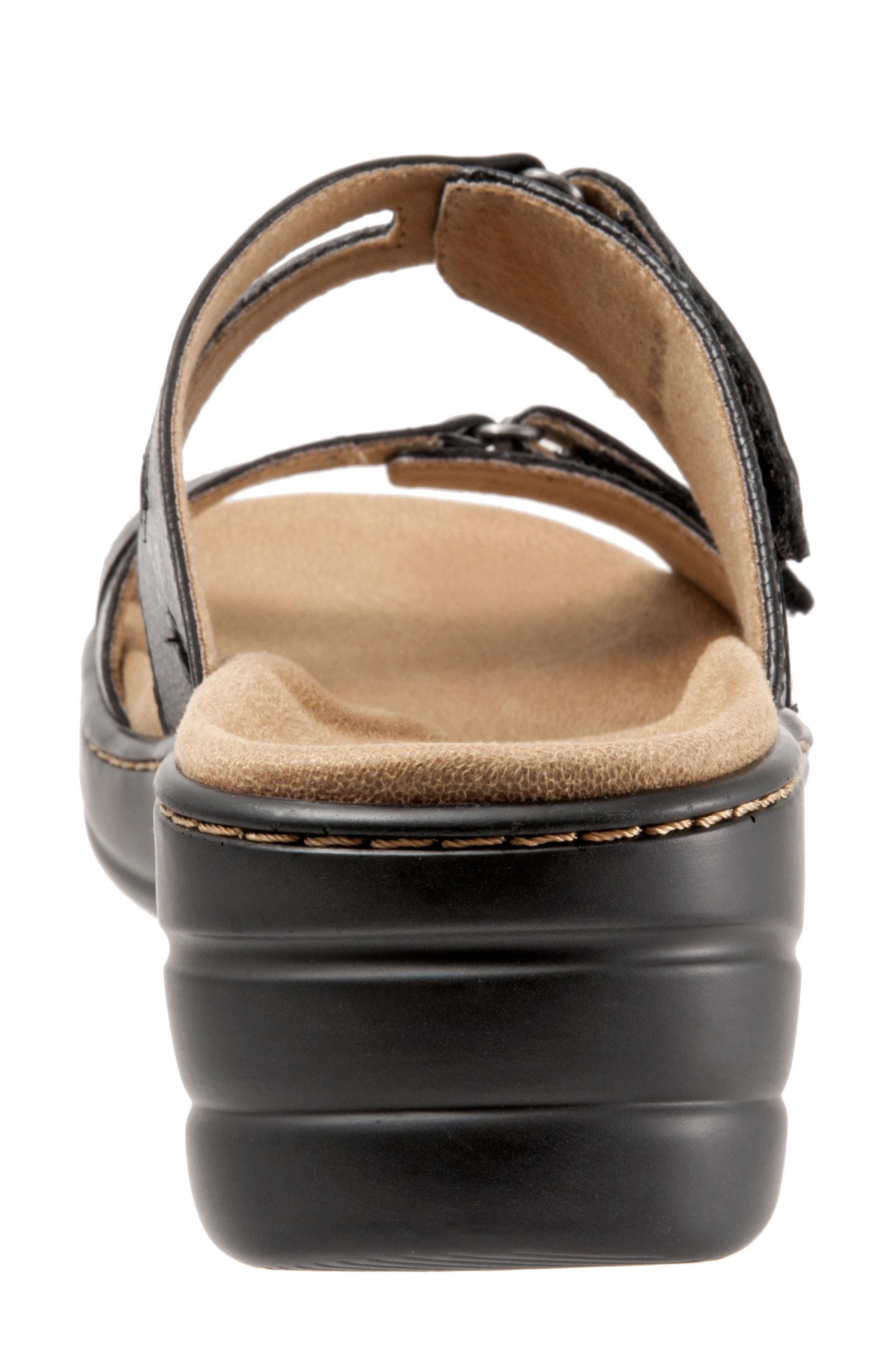 Neiman Sandal,                             Alternate thumbnail 6, color,                             Black Leather