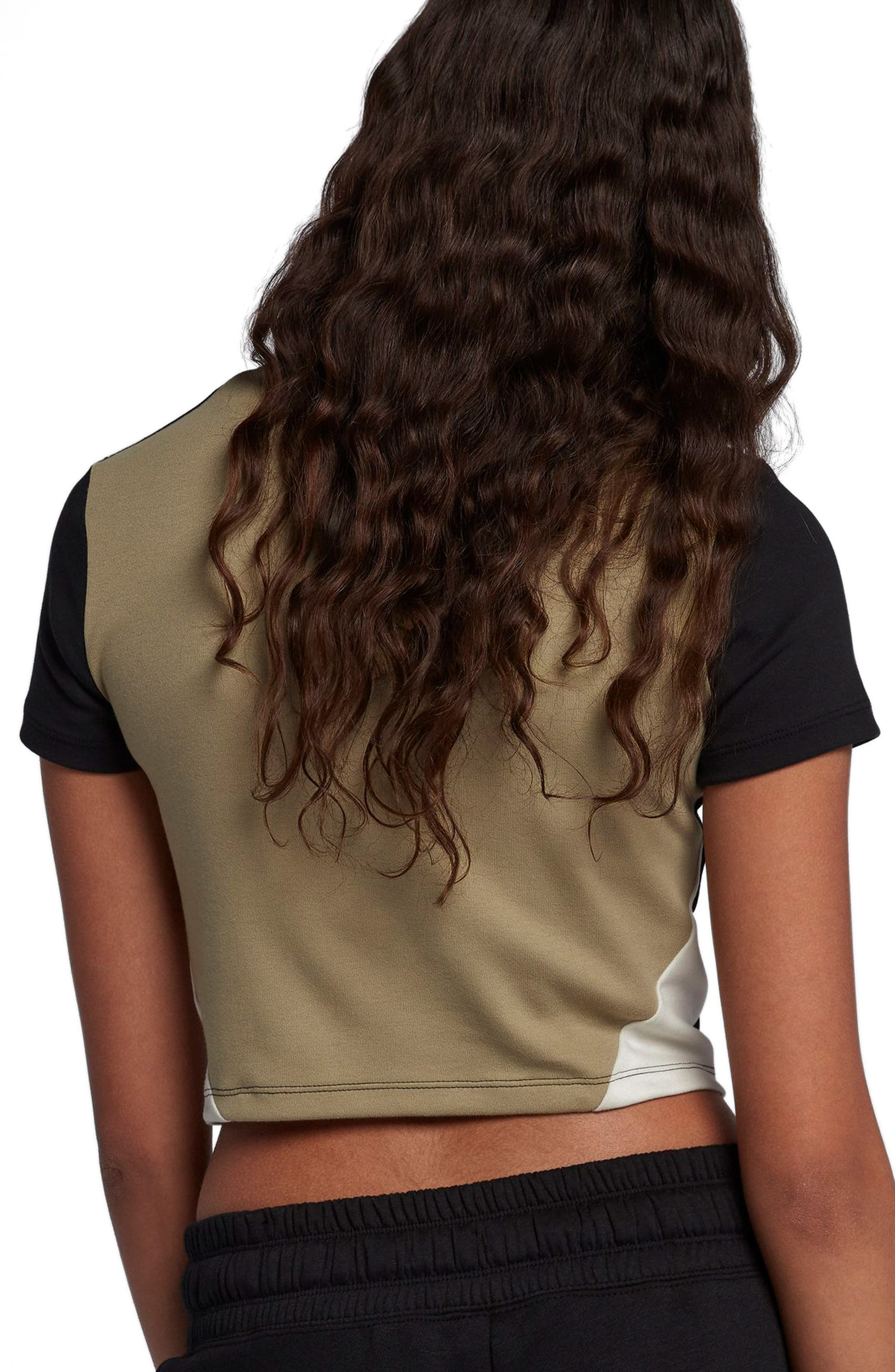 Sportswear Stretch Jersey Crop Top,                             Alternate thumbnail 2, color,                             Black/Neutral Olive/Barely Vol
