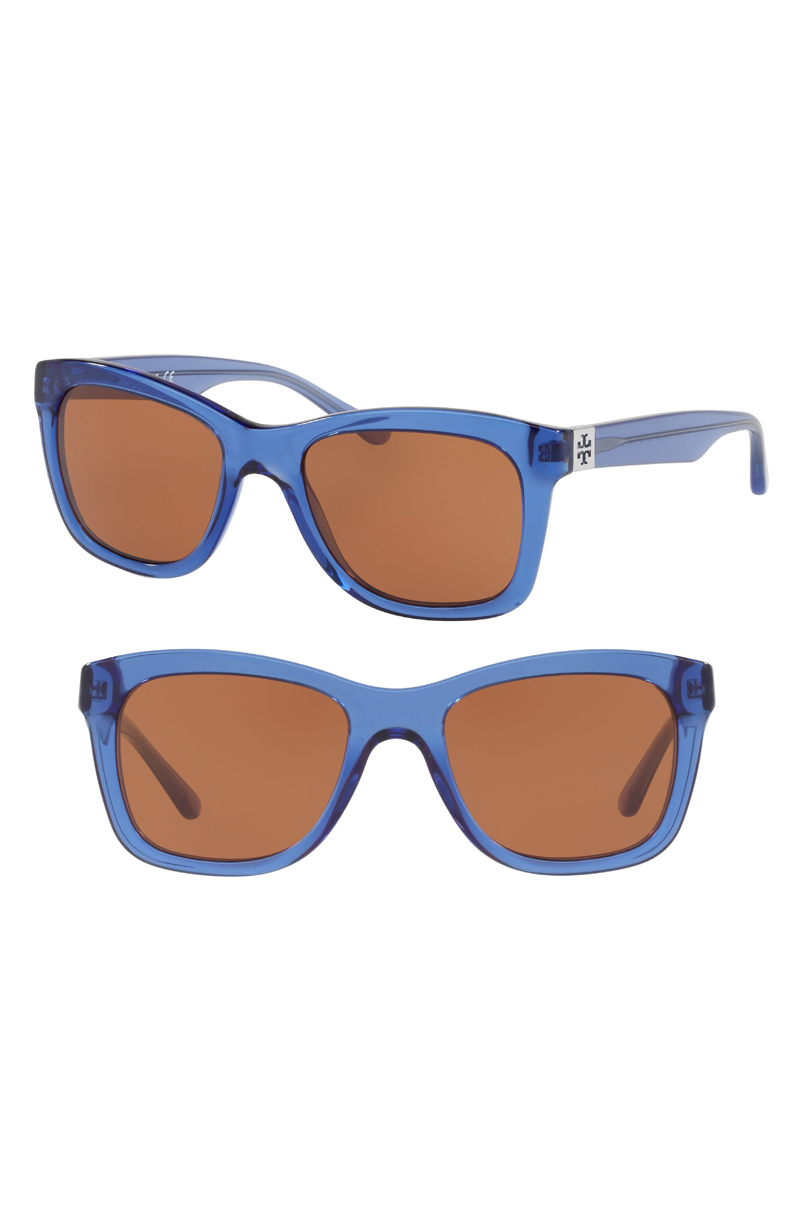 Classic Stacked 52mm Sunglasses,                             Main thumbnail 1, color,                             Amber