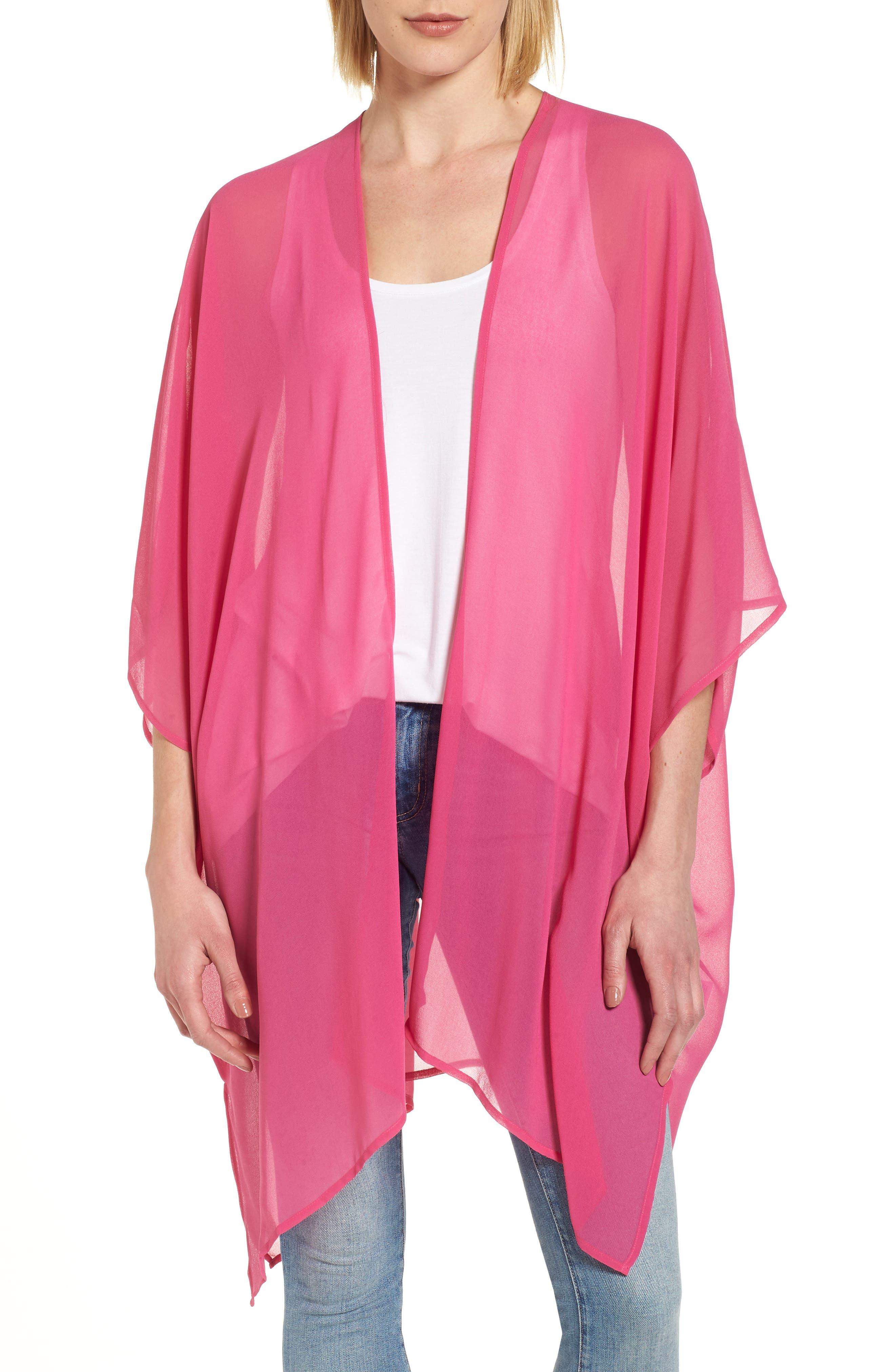 Alternate Image 1 Selected - Nordstrom Chiffon Cover-Up Kimono