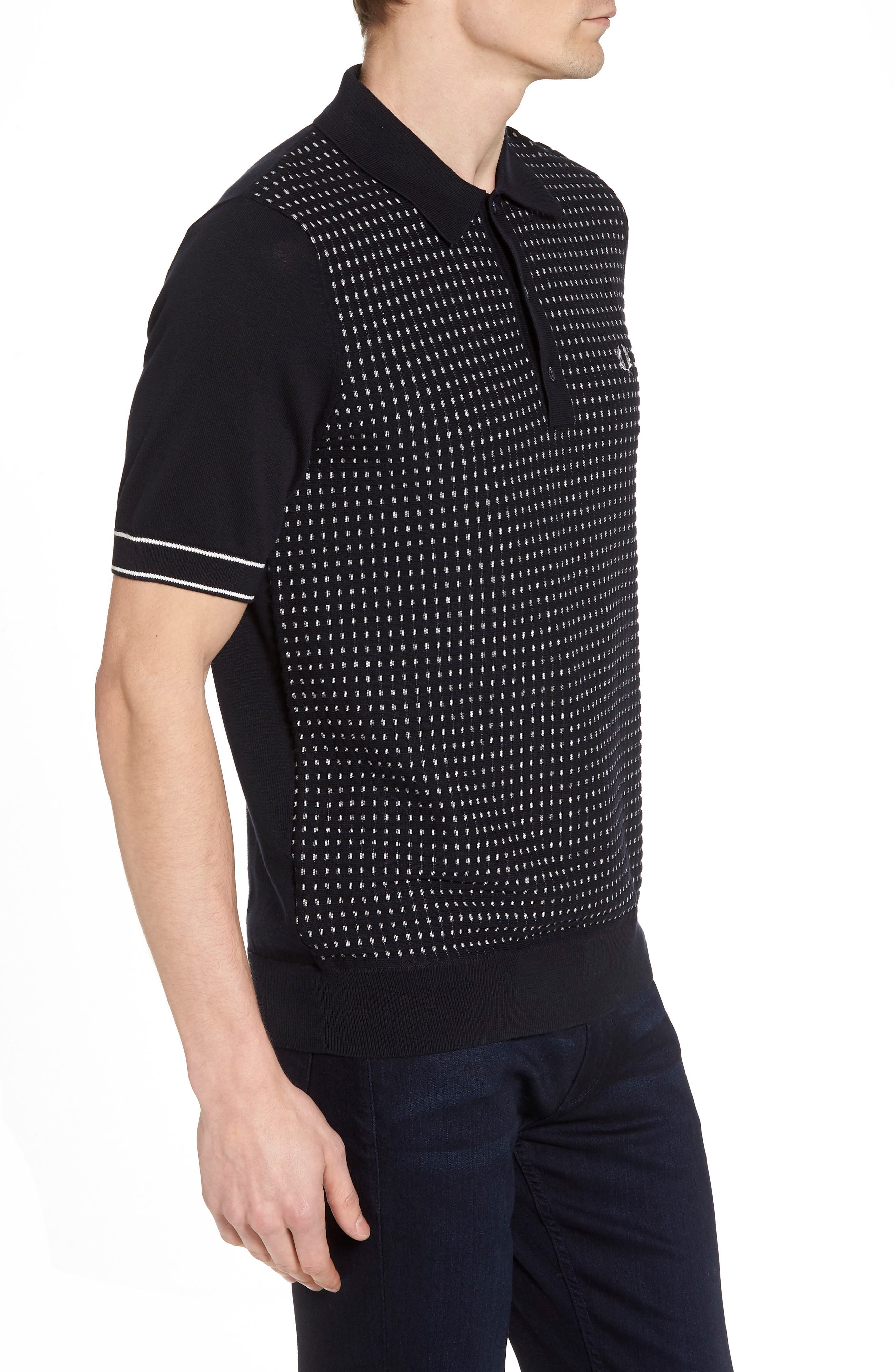 Alternate Image 3  - Fred Perry Jacquard Polo Shirt
