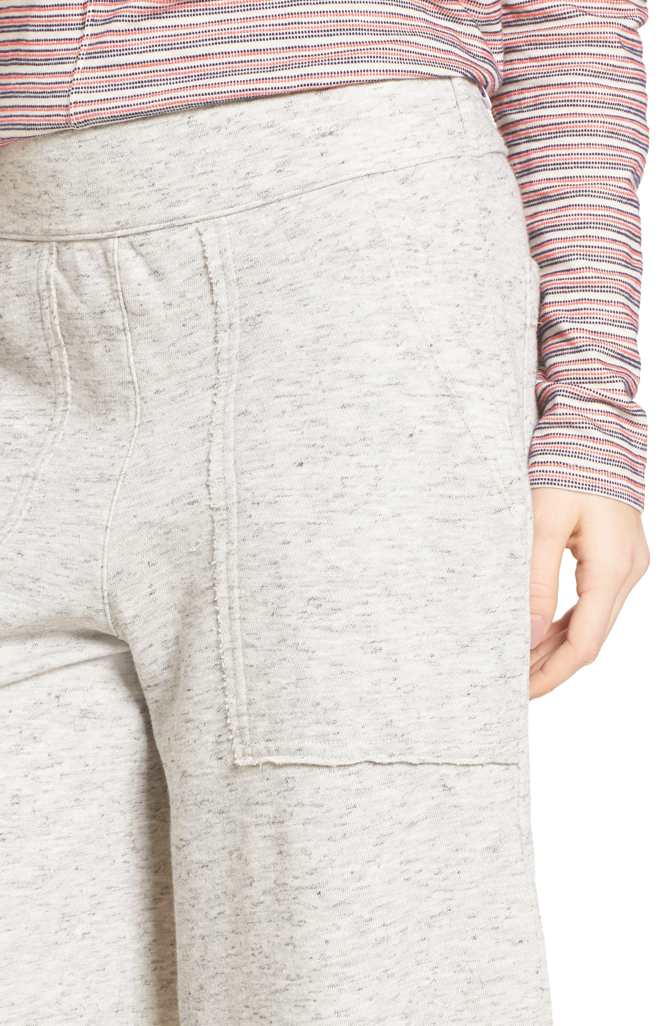 Sidelight Culotte Sweatpants,                             Alternate thumbnail 4, color,                             Grey