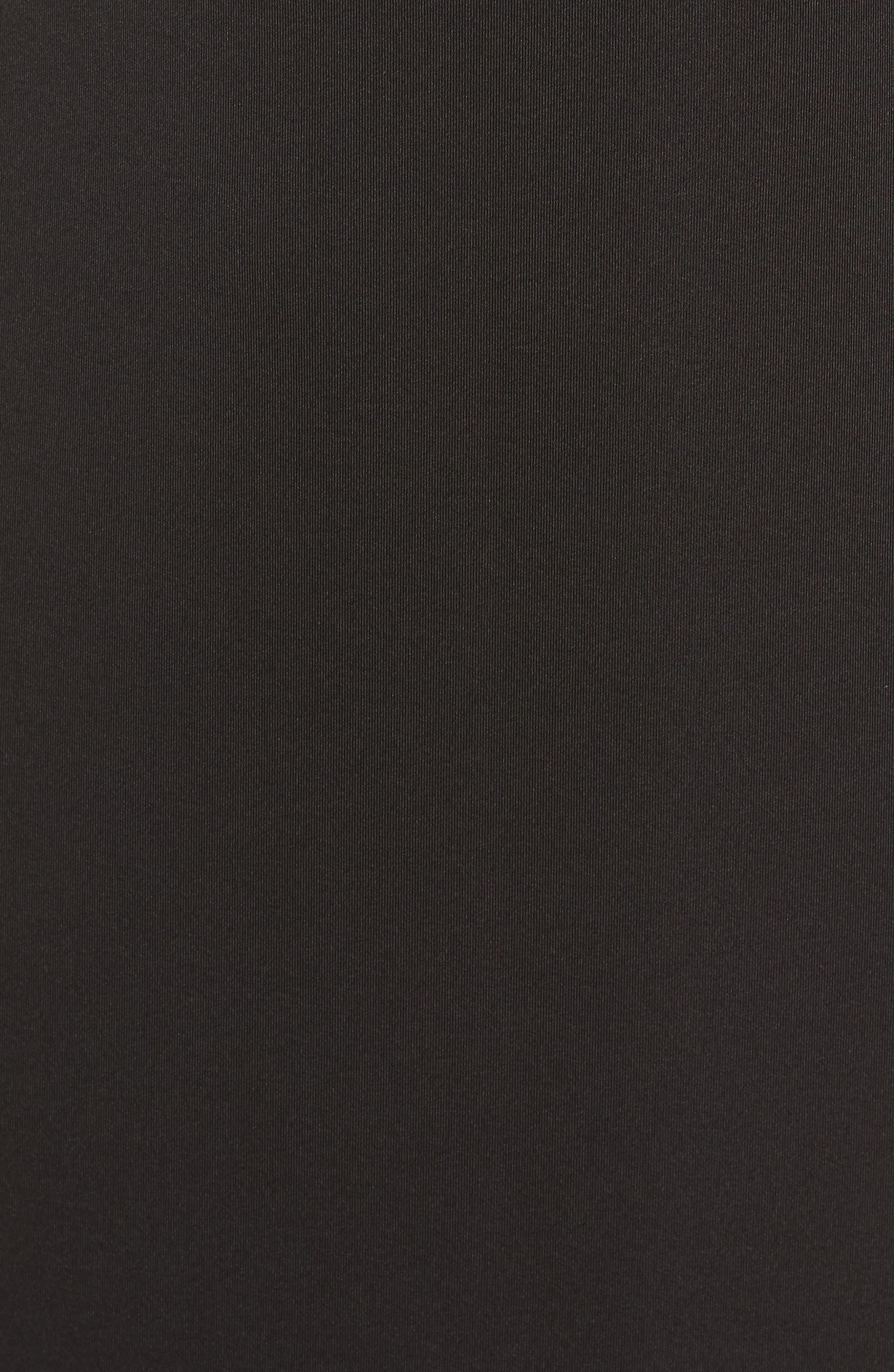 Flower Detail Sheath Dress,                             Alternate thumbnail 6, color,                             Black