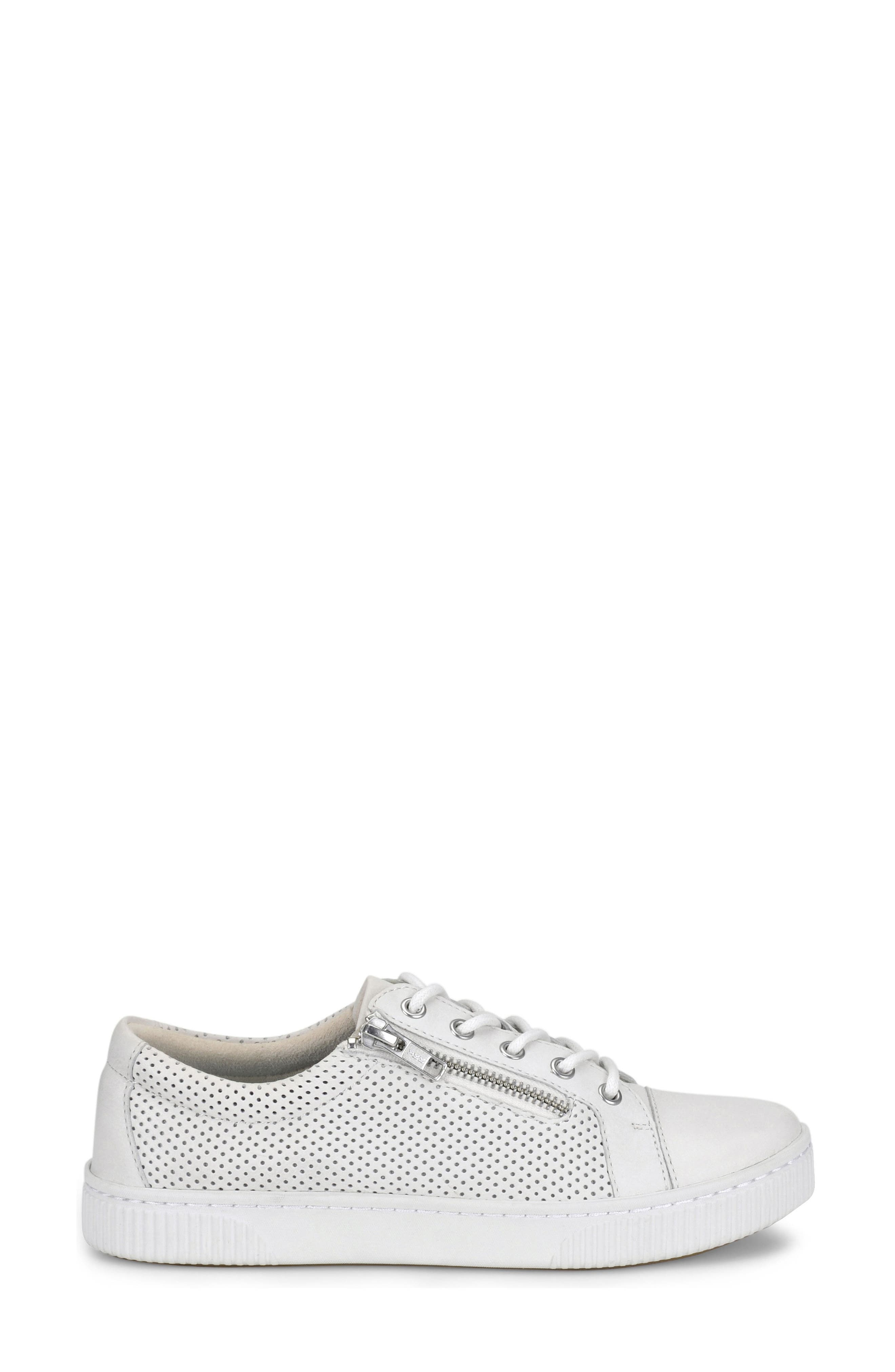 Tamara Perforated Sneaker,                             Alternate thumbnail 3, color,                             White Leather