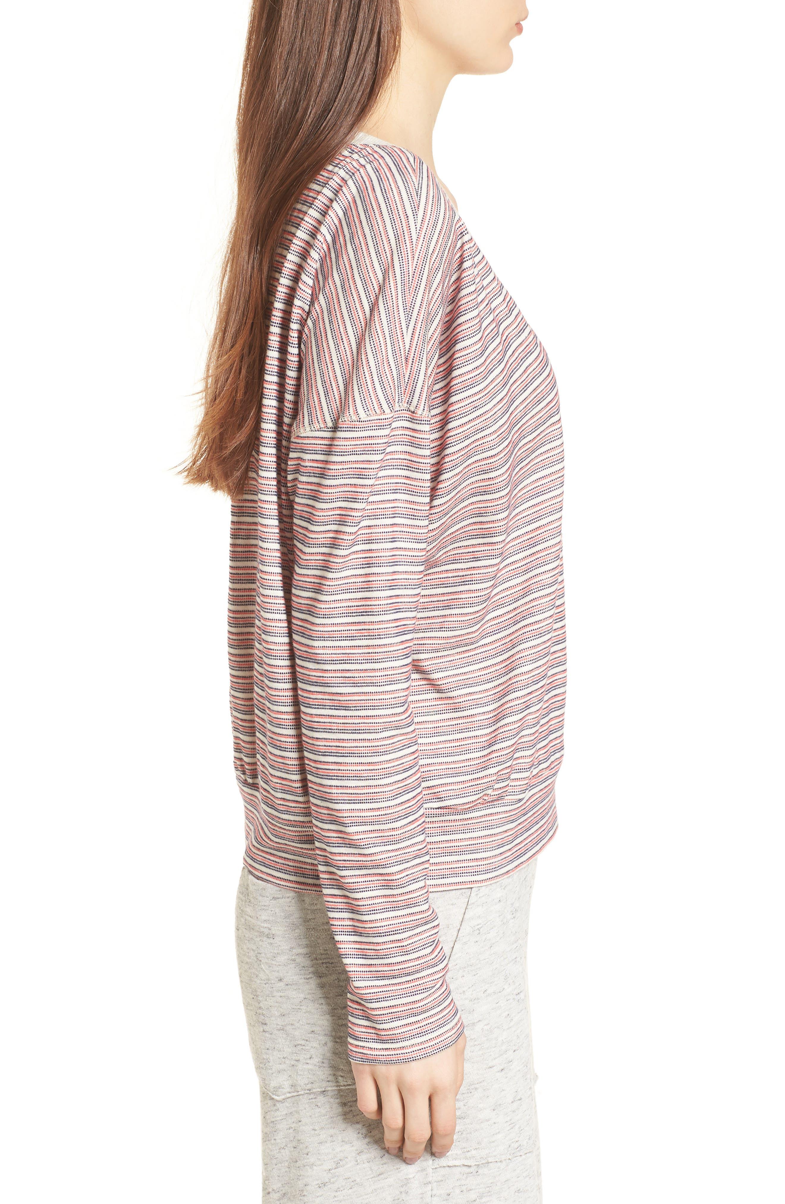 Stripe Pullover,                             Alternate thumbnail 3, color,                             Off White
