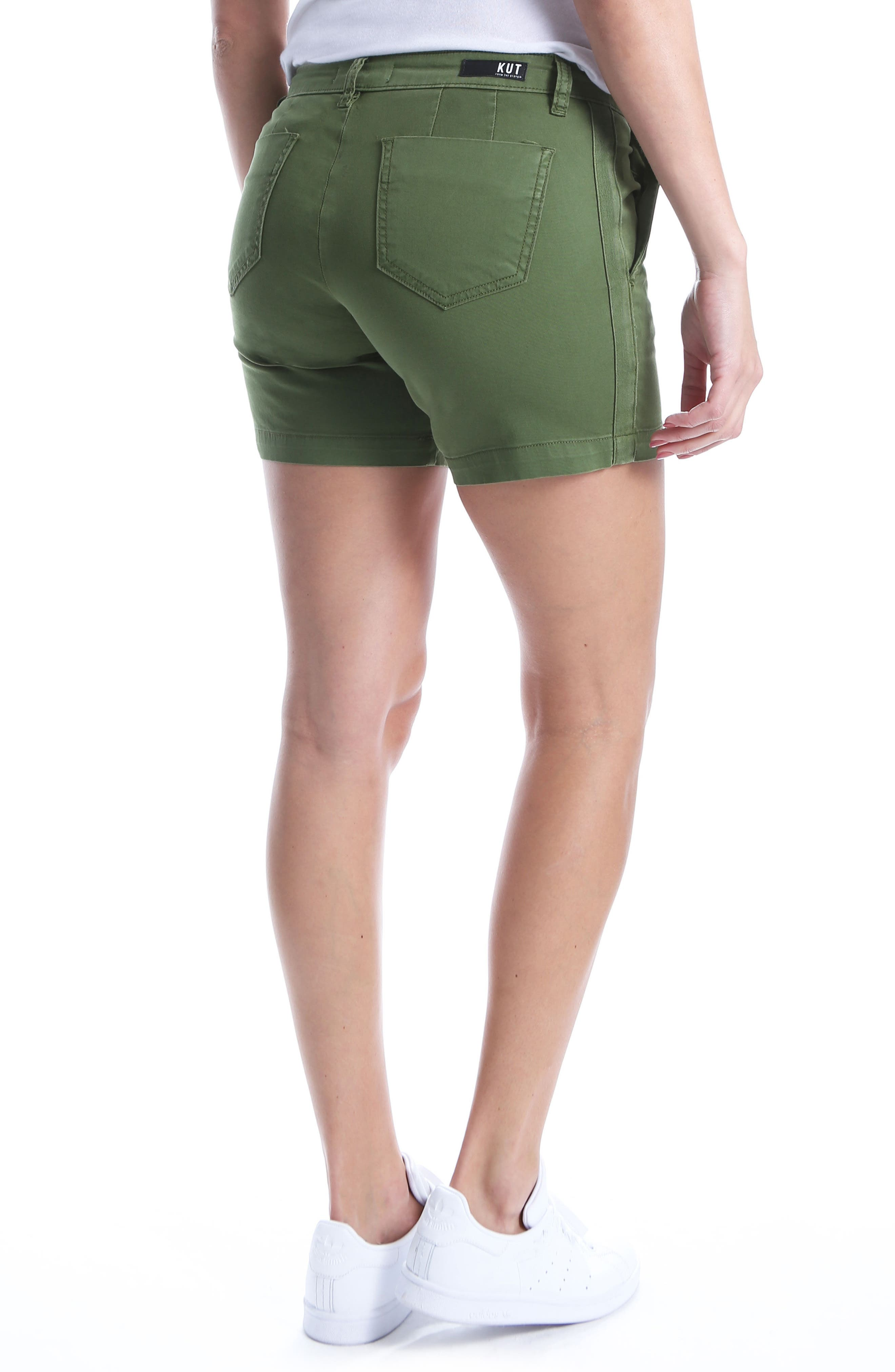 Alternate Image 2  - KUT from the Kloth Stretch Cotton Roll Up Shorts