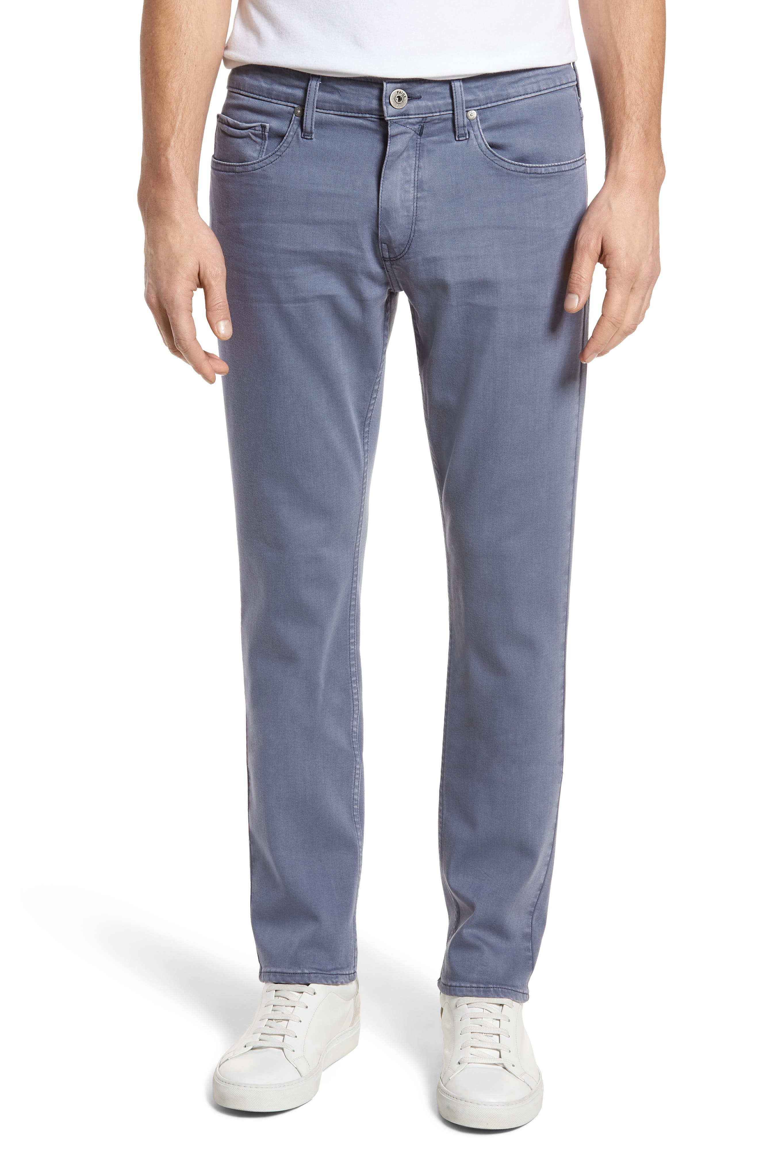 Main Image - PAIGE Transcend - Federal Slim Straight Leg Jeans (Vintage Smokey Blue)