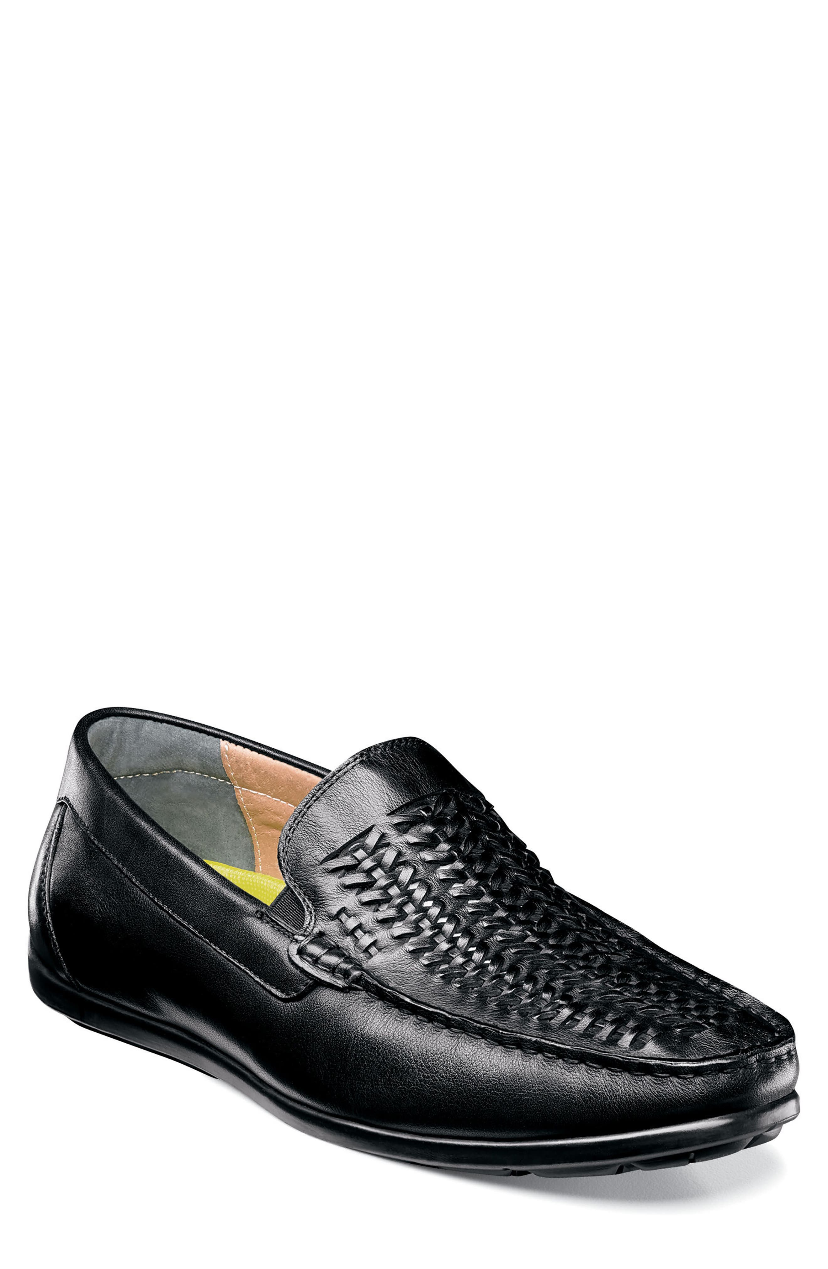 Comfortech Draft Loafer,                             Main thumbnail 1, color,                             Black/Black Leather
