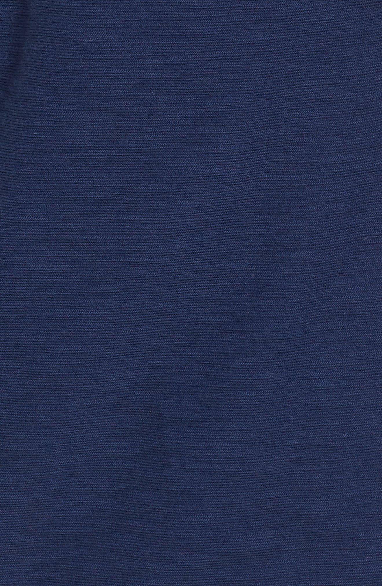 Waistband Stripe Pull On Skirt,                             Alternate thumbnail 5, color,                             Deep Bay