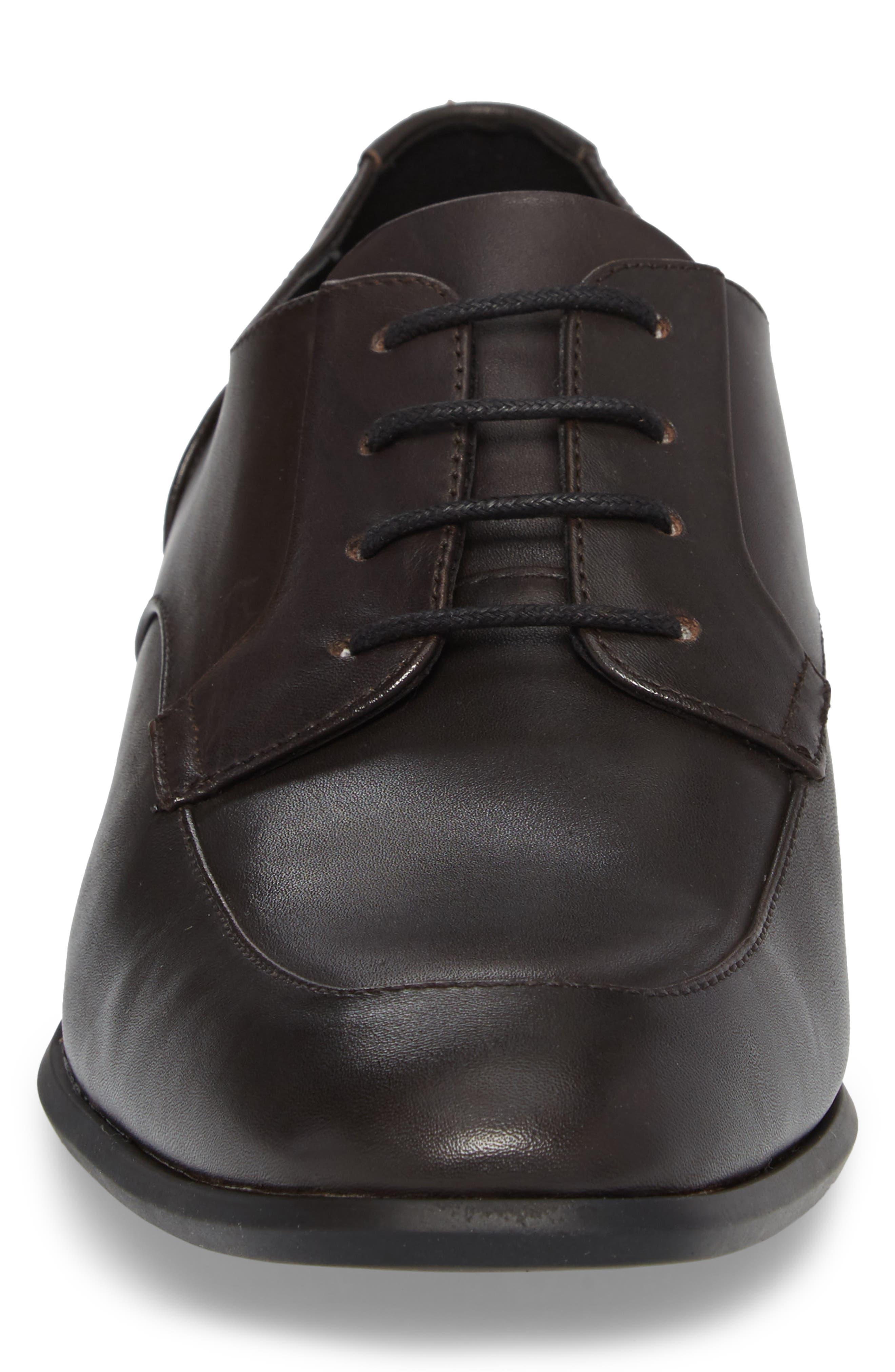 Lazarus Apron Toe Derby,                             Alternate thumbnail 4, color,                             Dark Brown Leather