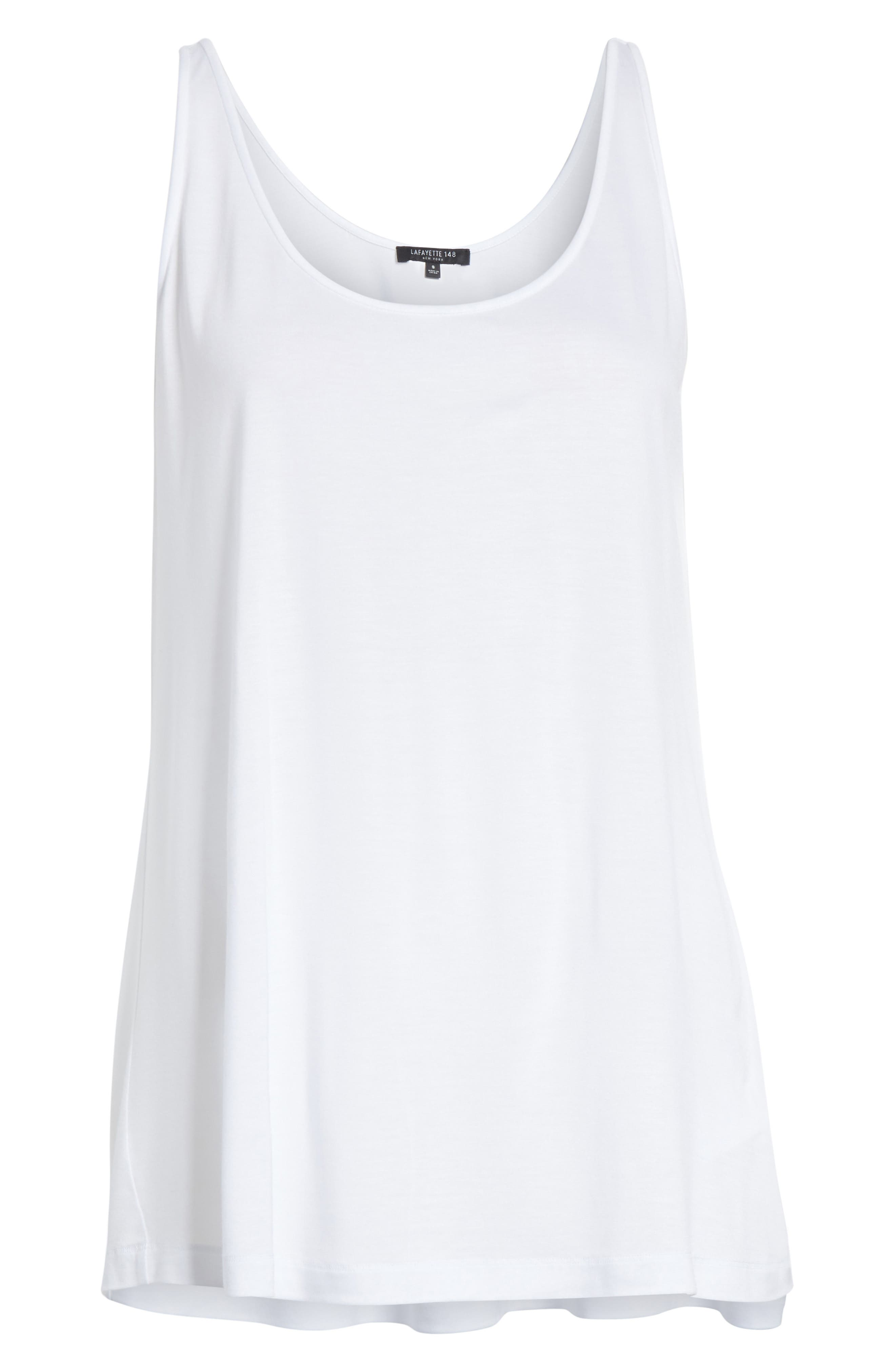 Ivy Tank Top,                             Alternate thumbnail 6, color,                             White