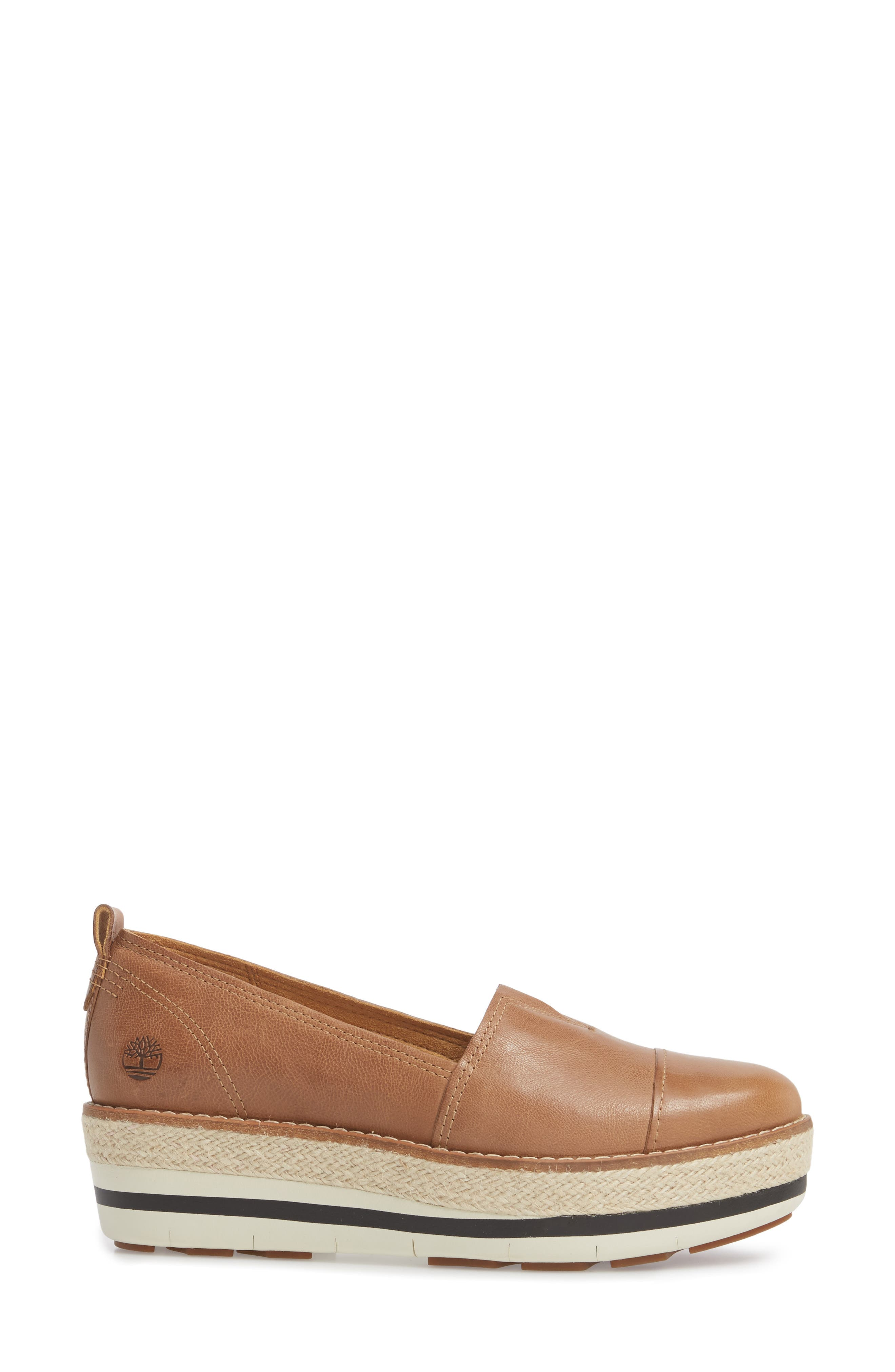 Emerson Platform Slip-On,                             Alternate thumbnail 3, color,                             Iced Coffee Leather