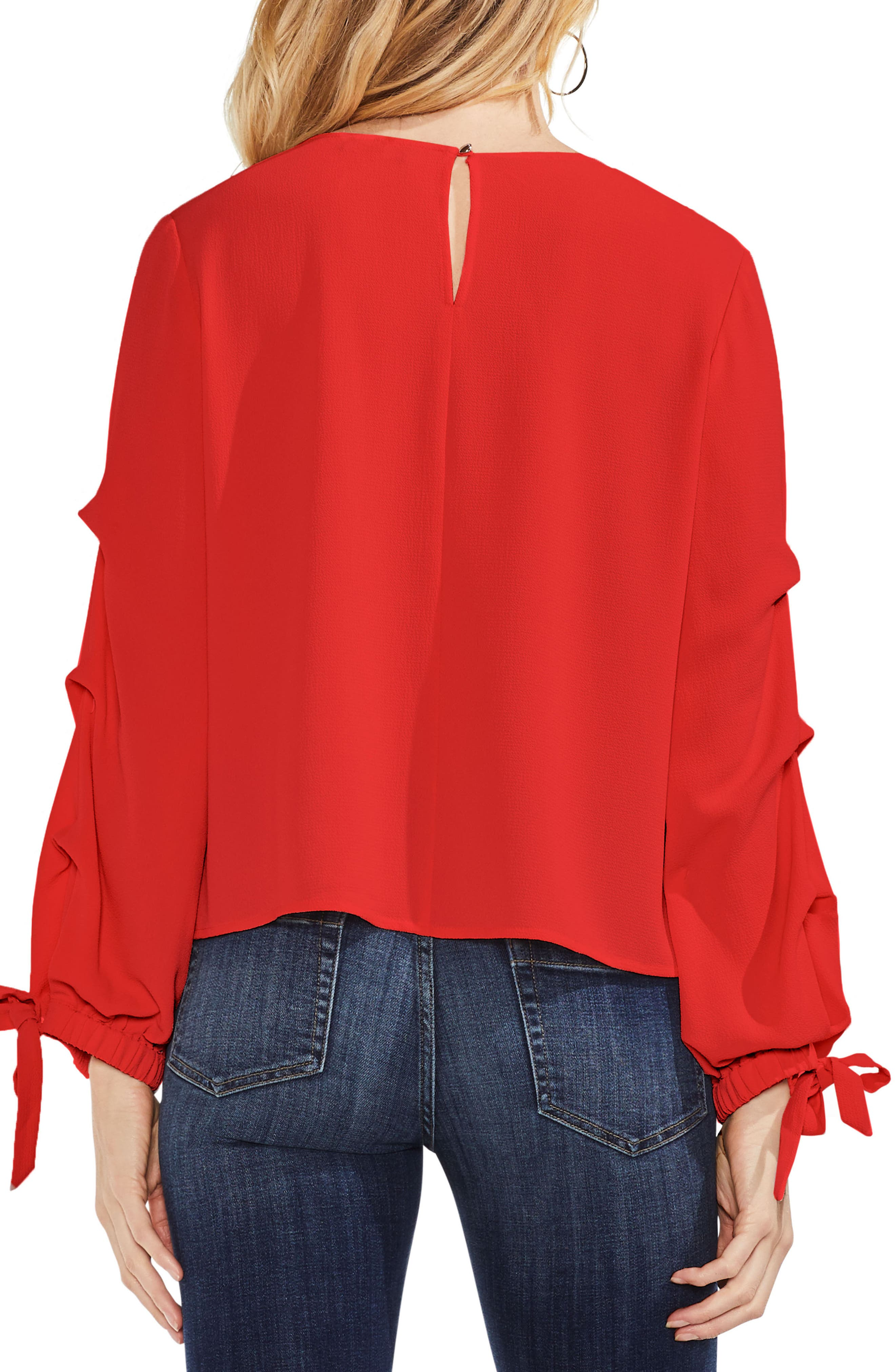 Alternate Image 2  - Vince Camuto Tiered Tie Cuff Crepe Blouse