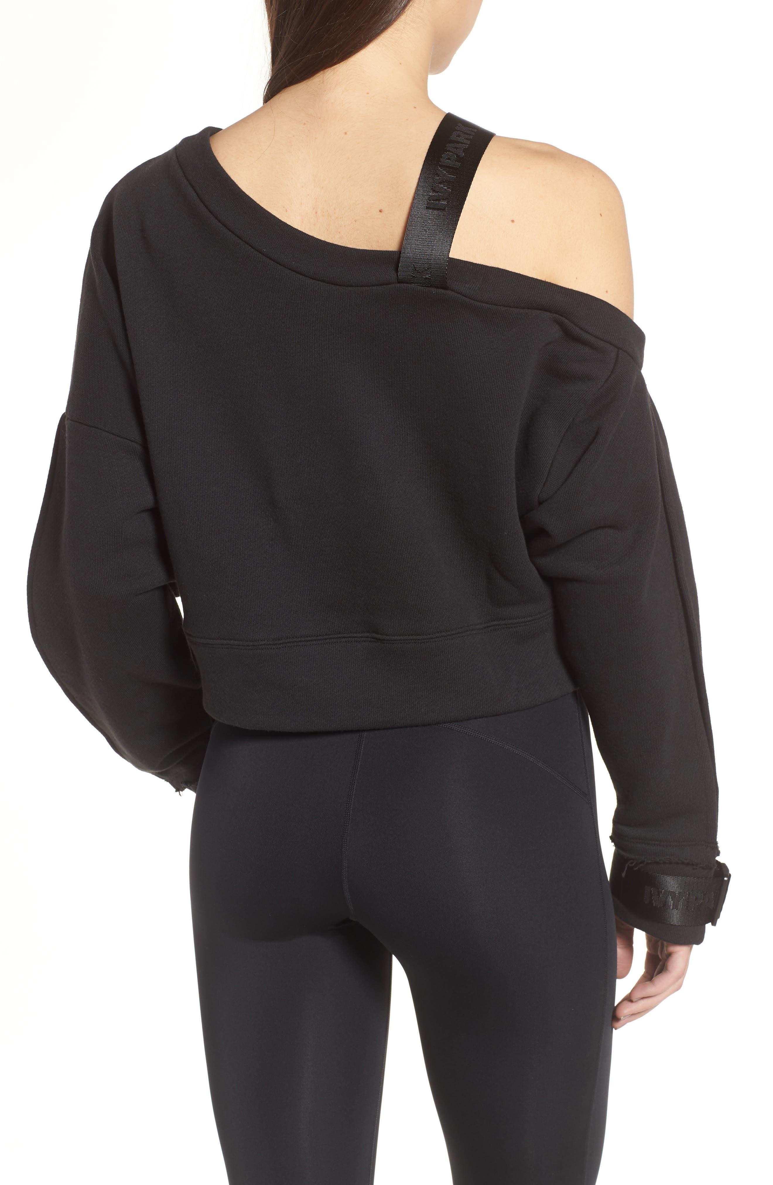 Harness Strap Sweatshirt,                             Alternate thumbnail 2, color,                             Black