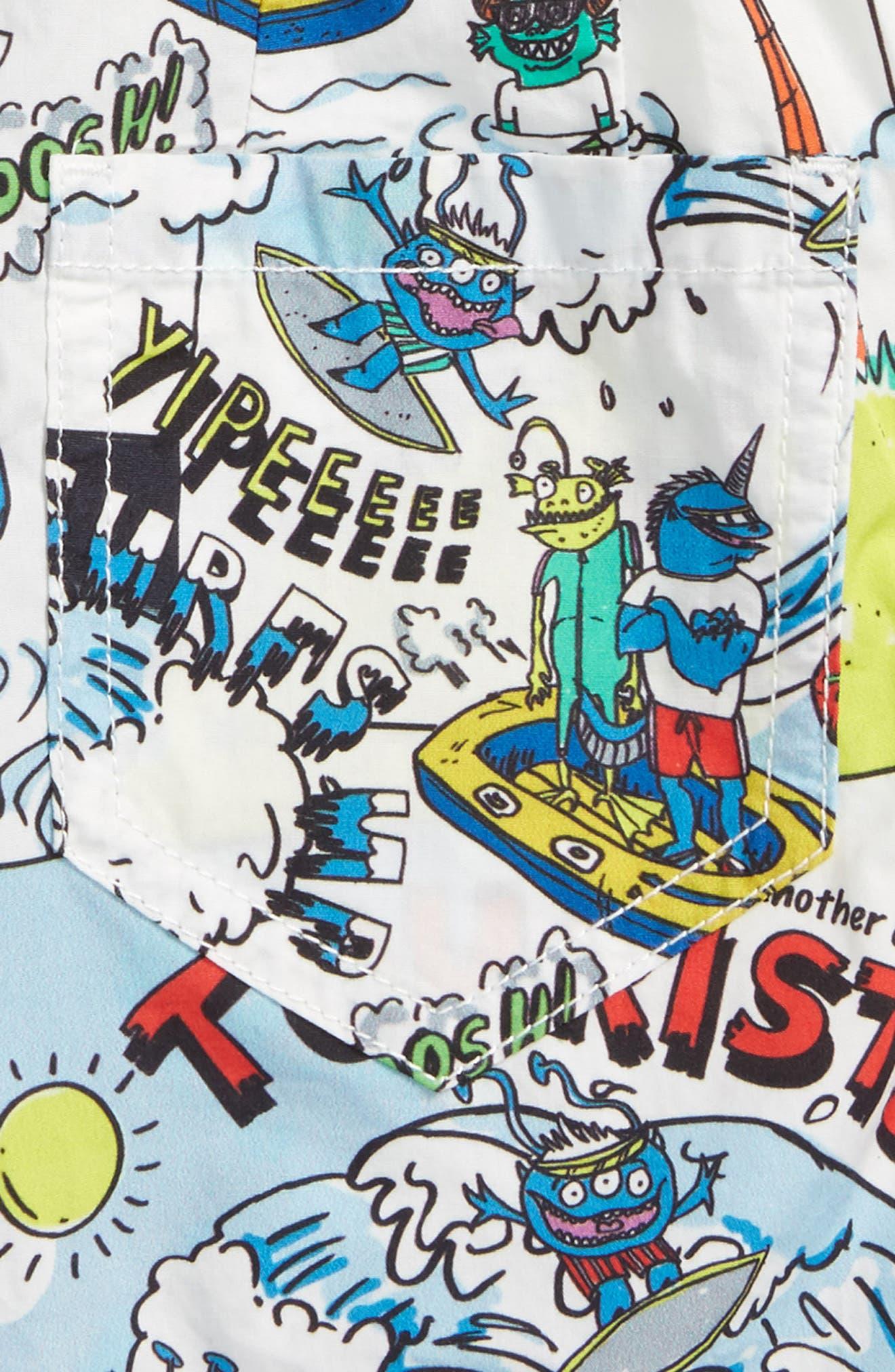 Alternate Image 3  - Stella McCartney Lucas Cartoon Print Shorts (Toddler Boys, Little Boys & Big Boys)