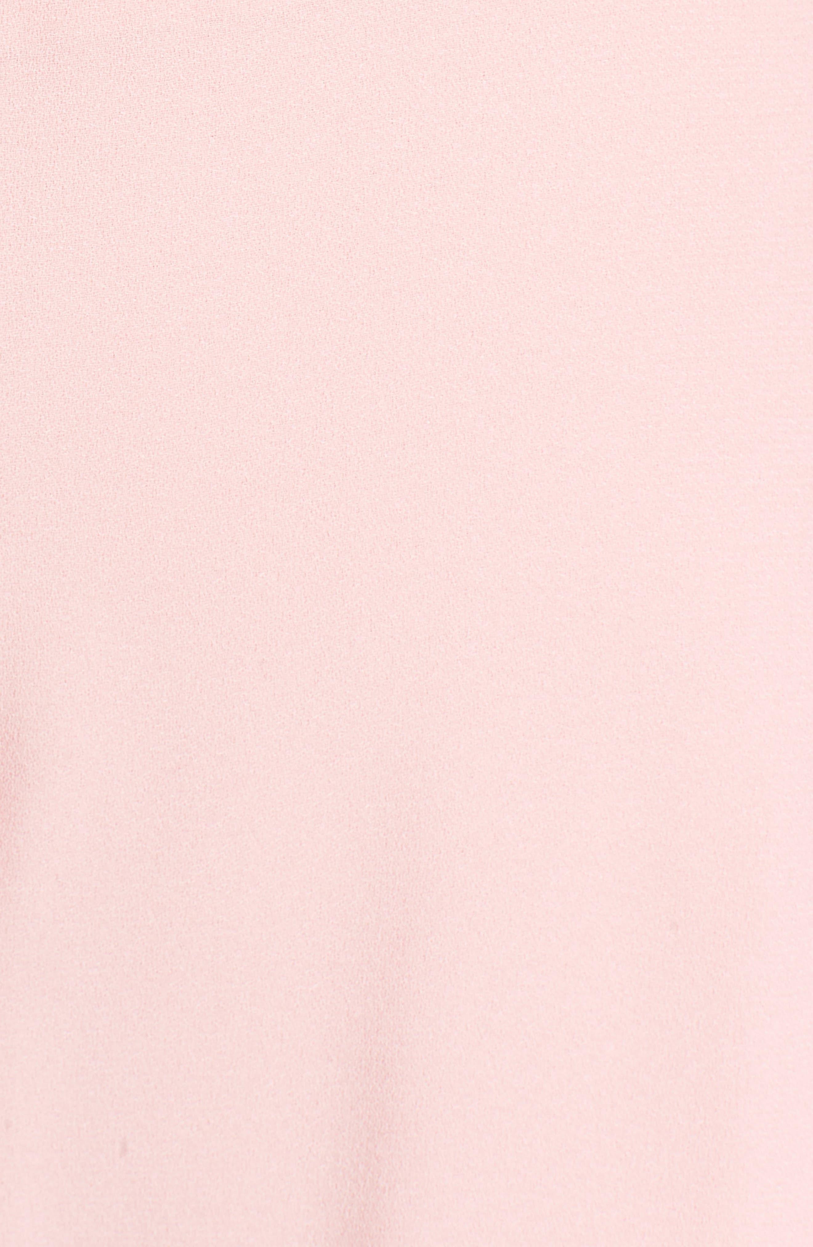 Cold Shoulder Dress,                             Alternate thumbnail 5, color,                             Peach