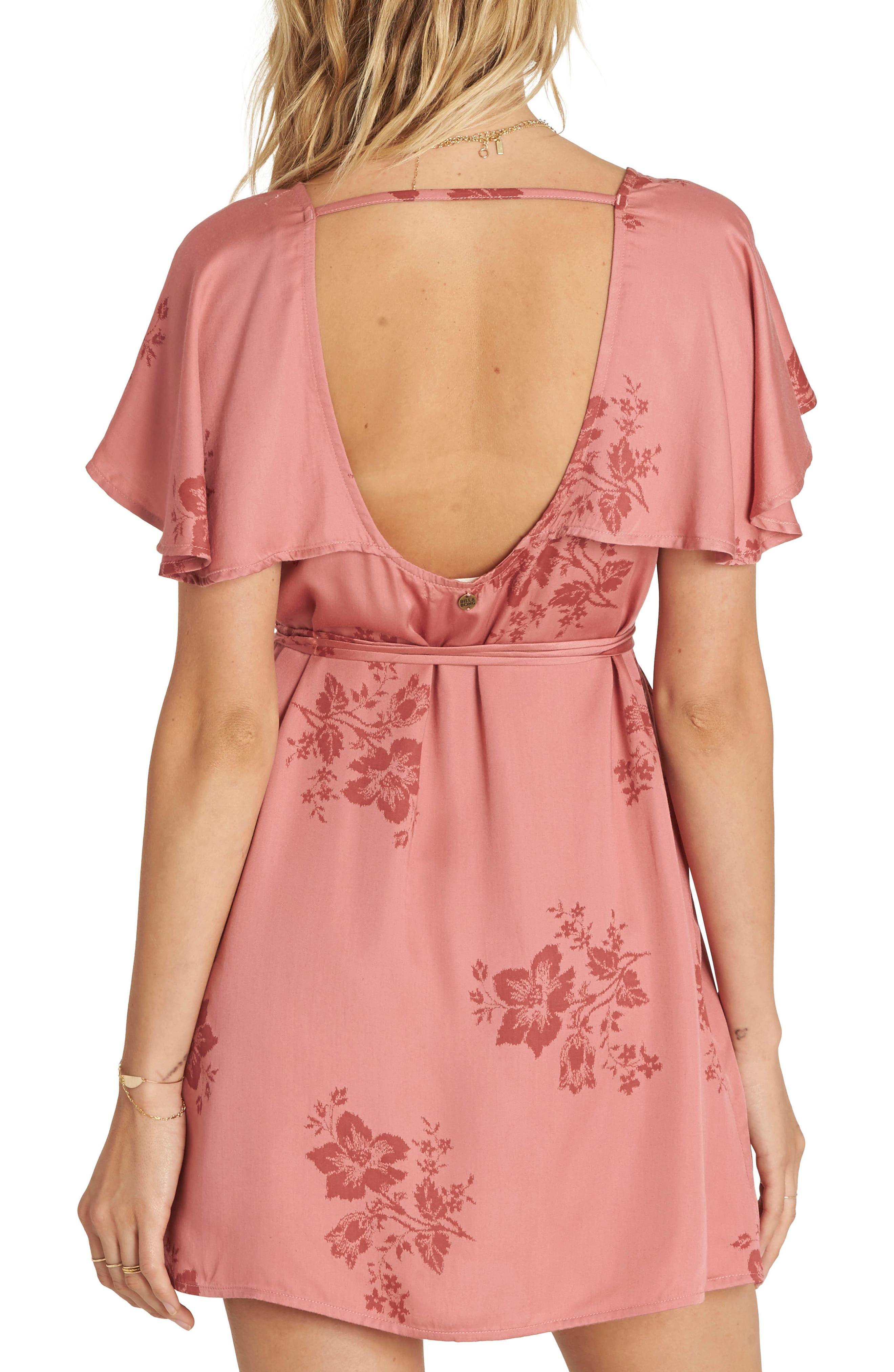 Alternate Image 2  - Billabong Fine Flutter Floral Dress