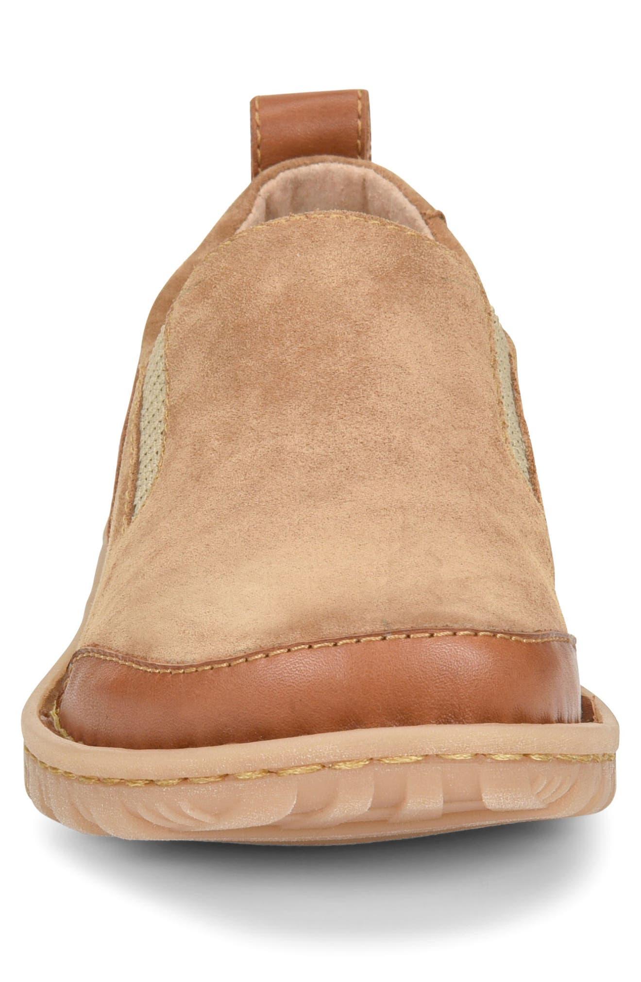 Pepper Slip-On,                             Alternate thumbnail 4, color,                             Light Brown Leather