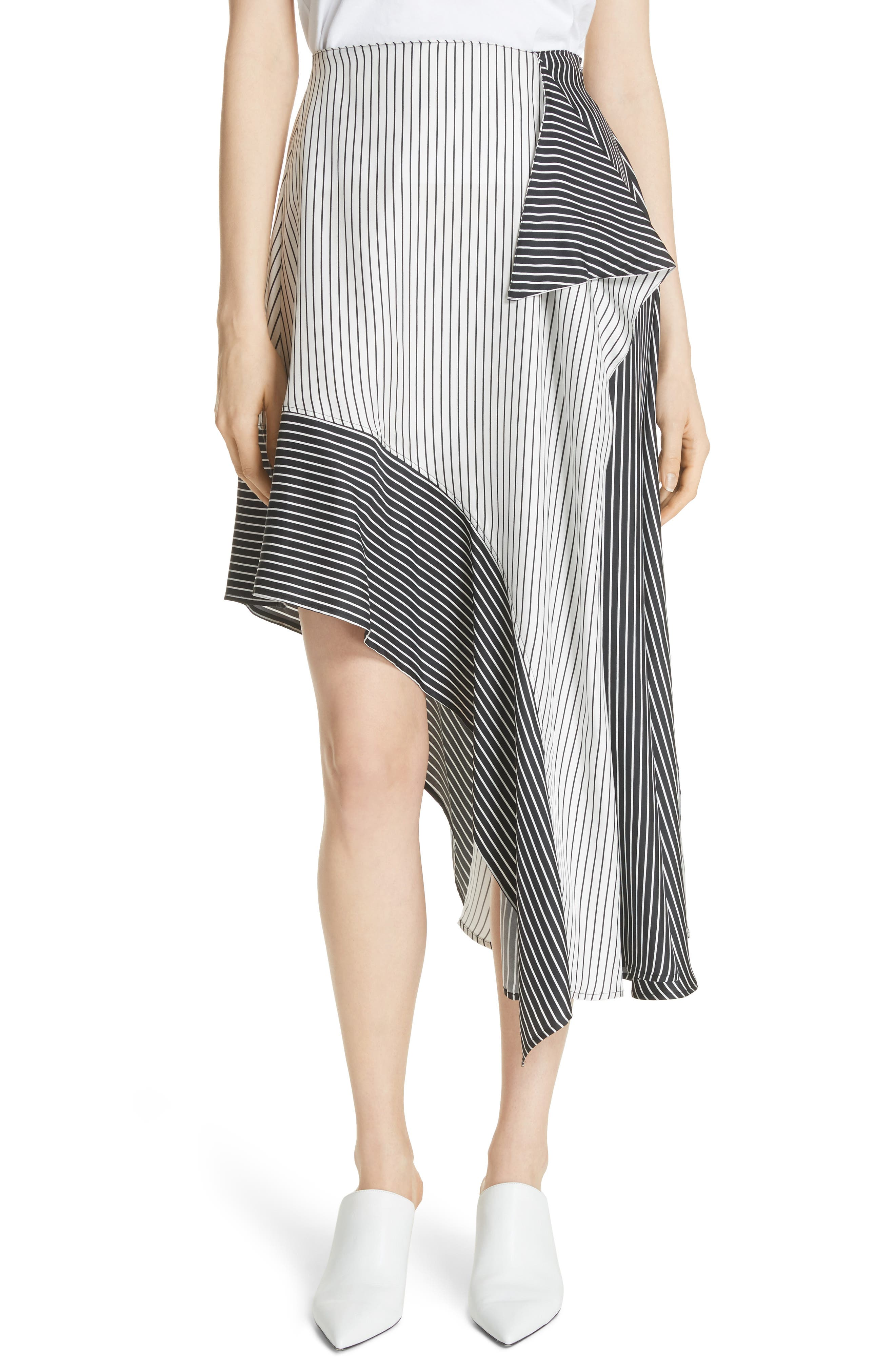 Robert Rodriguez Colorblock Stripe Skirt